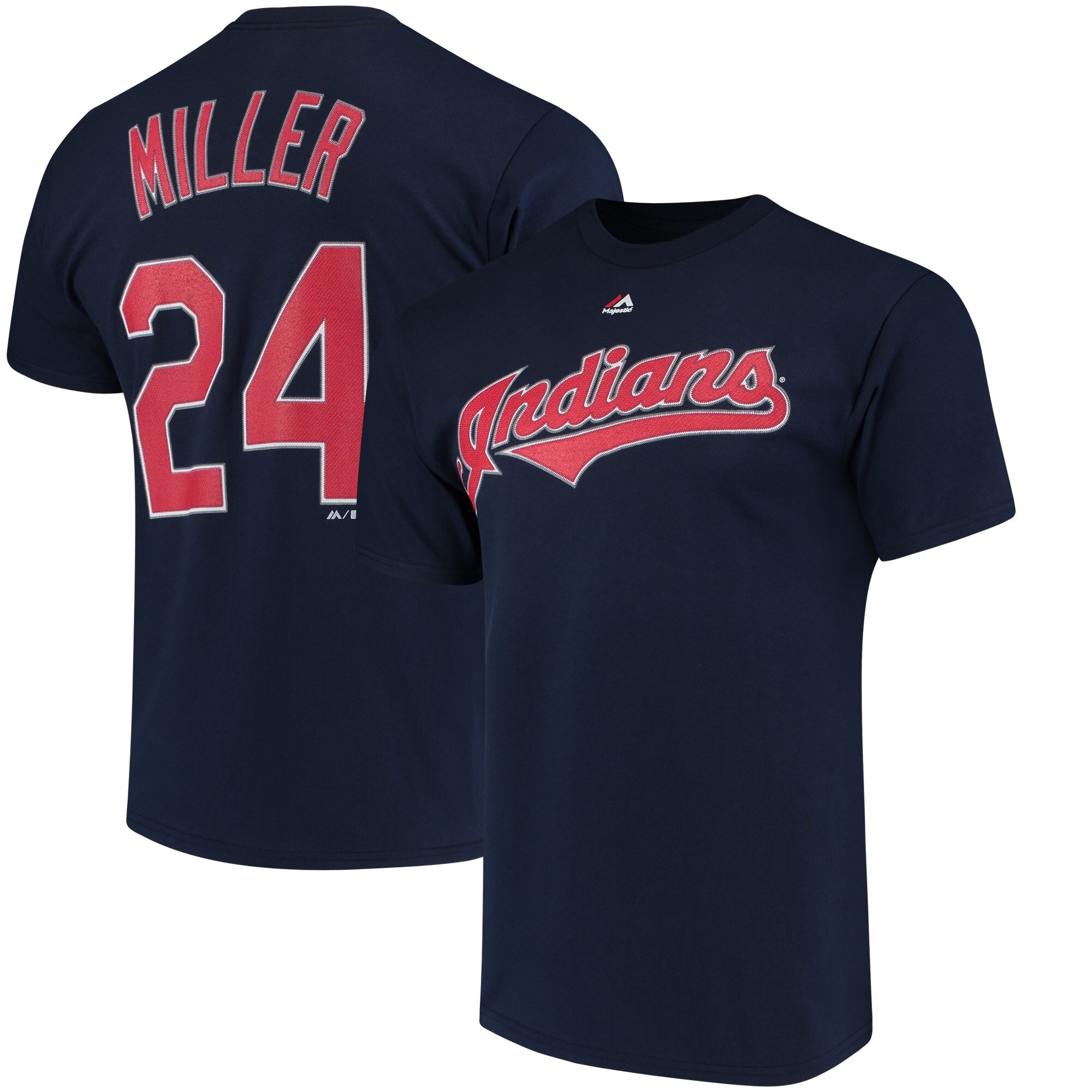 Andrew Miller Cleveland Indians Majestic Official Name & Number T-Shirt - Navy