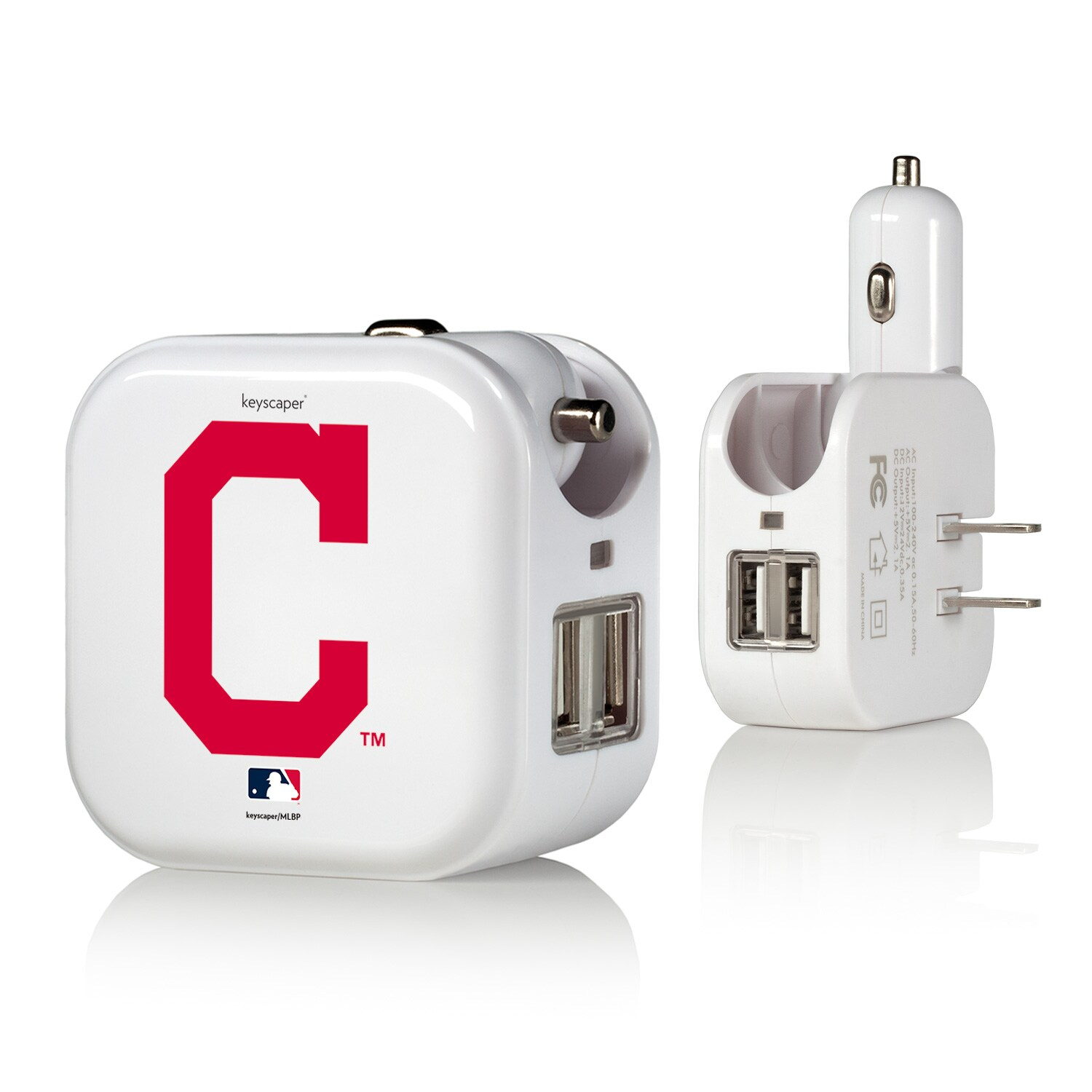 Cleveland Indians 2-In-1 USB Charger