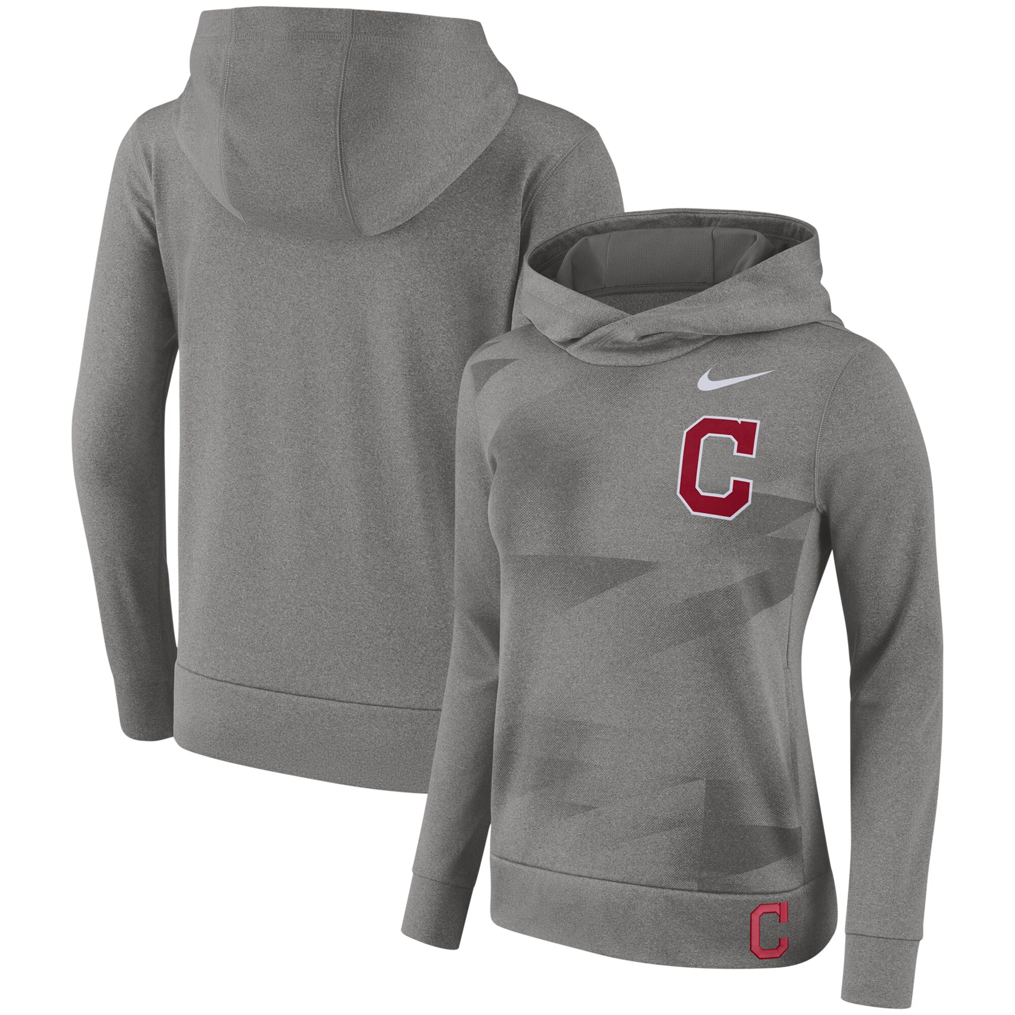Cleveland Indians Nike Women's Performance Pullover Hoodie - Gray