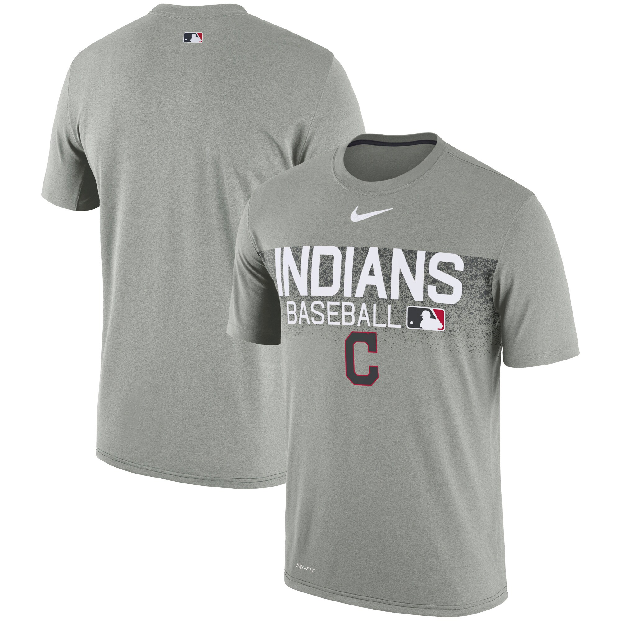 Cleveland Indians Nike Authentic Collection Legend Team Issued Performance T-Shirt - Gray