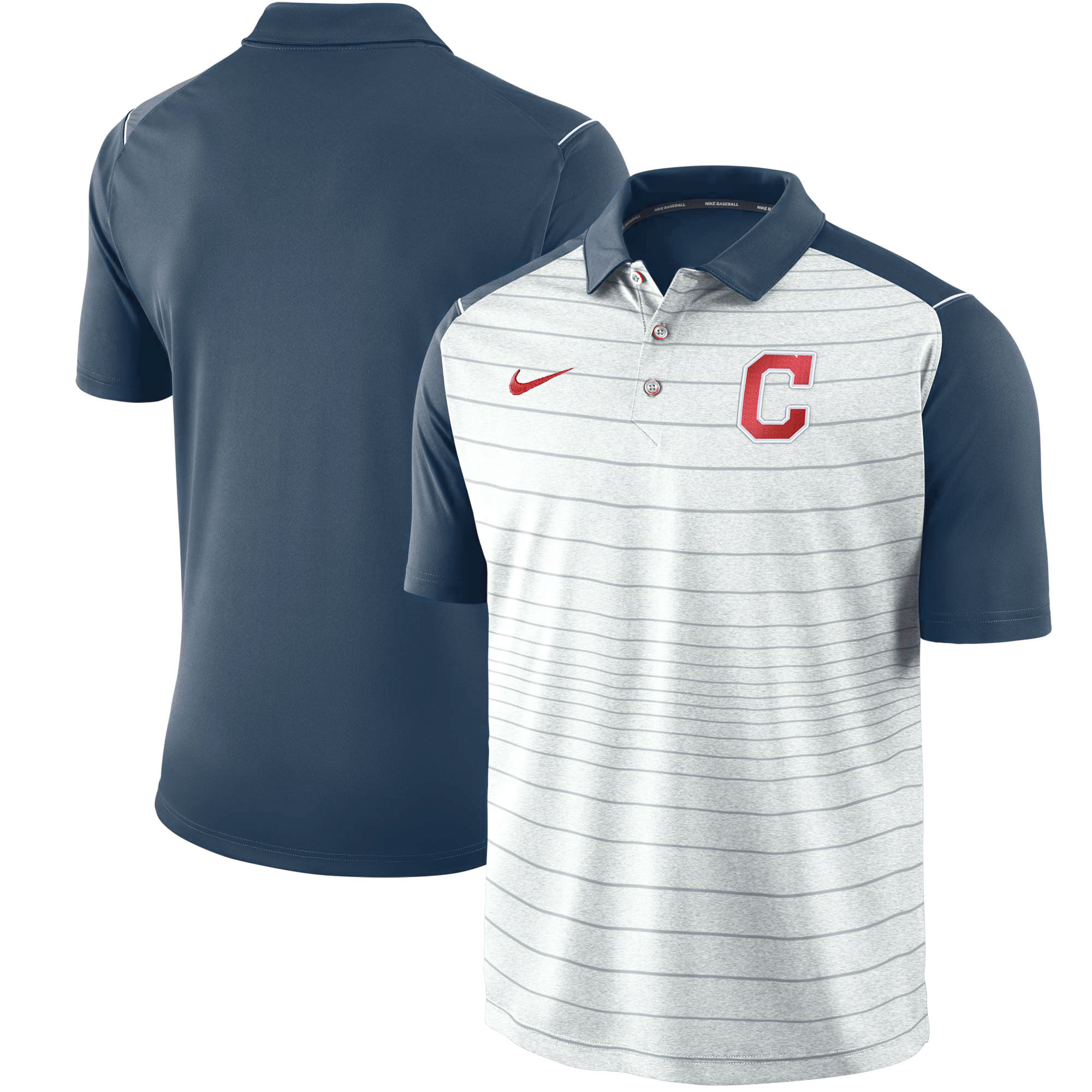 Cleveland Indians Nike Stripe Polo - Gray