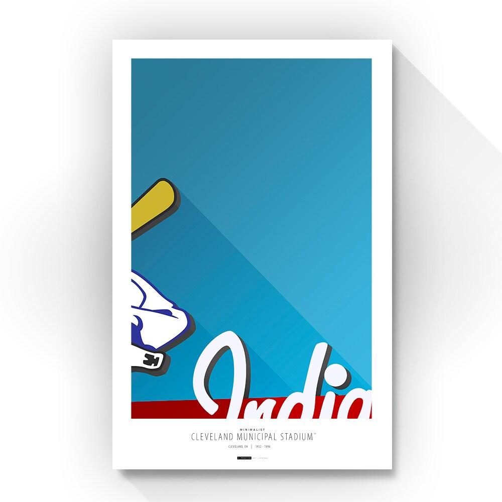 "Cleveland Indians 14"" x 20"" Minimalist Art Giclee"
