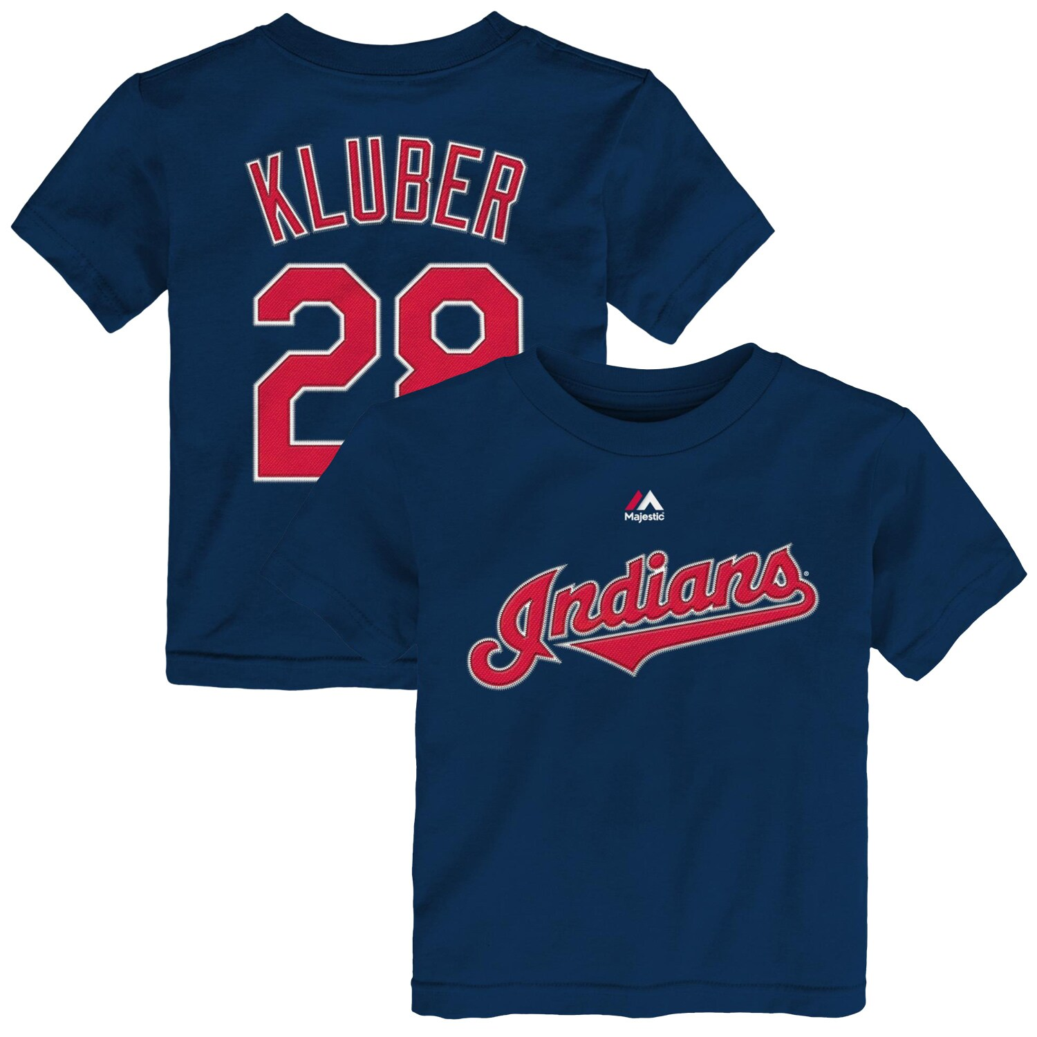 Corey Kluber Cleveland Indians Majestic Toddler Player Name & Number T-Shirt - Navy