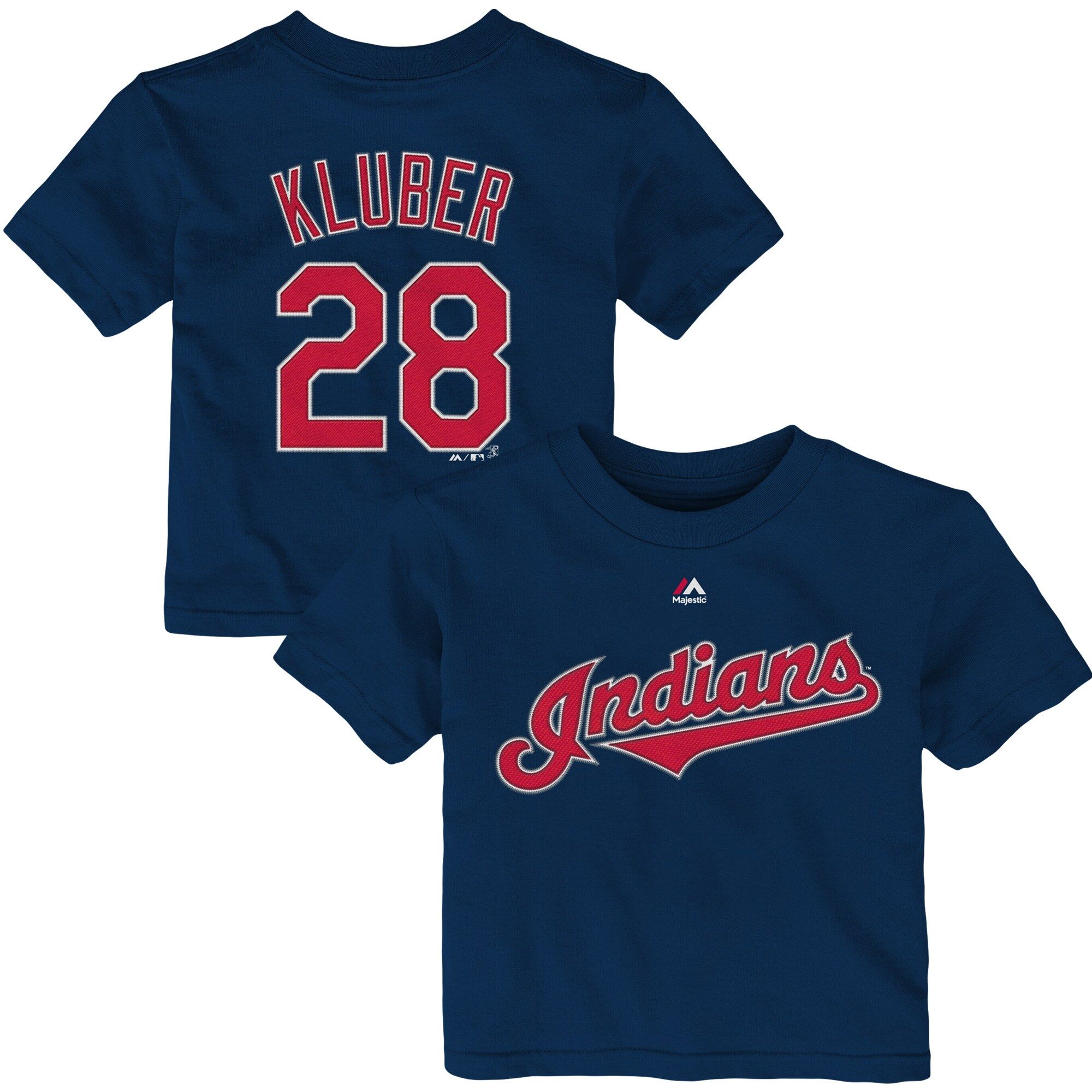 Corey Kluber Cleveland Indians Majestic Infant Player Name & Number T-Shirt - Navy