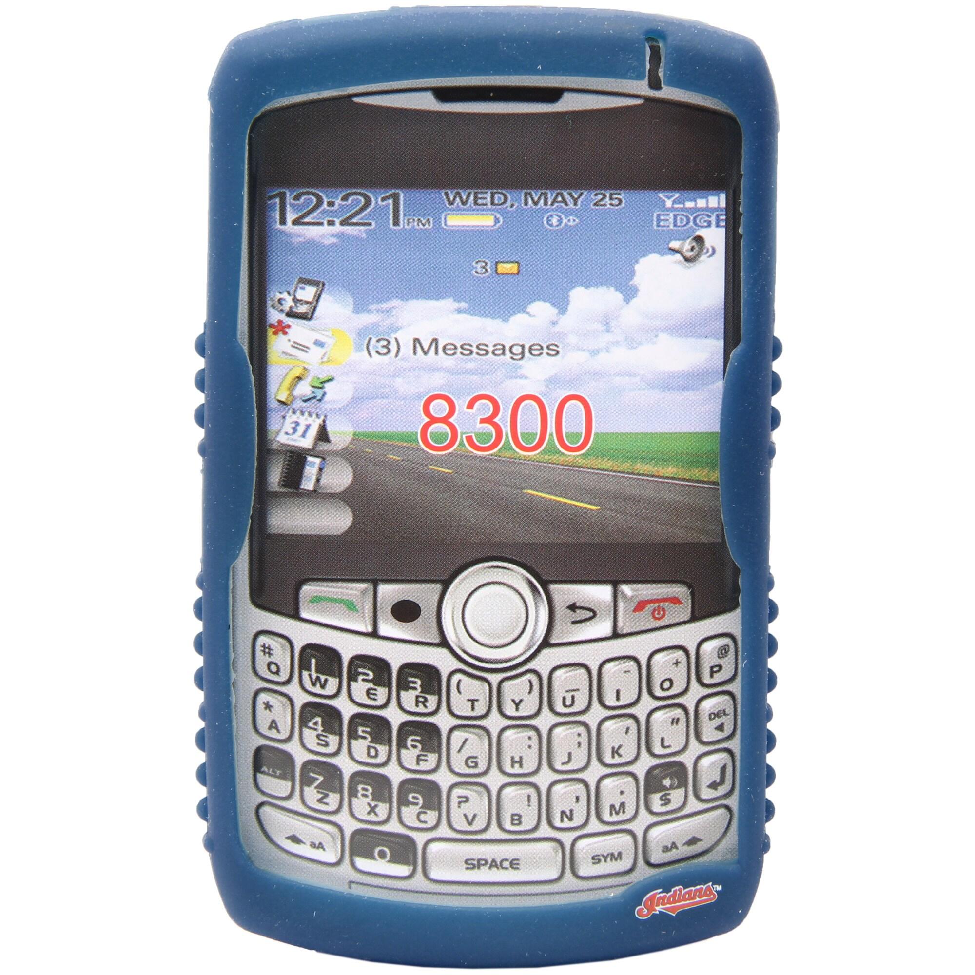 Cleveland Indians BlackBerry Curve Cashmere Silicone Case - Royal
