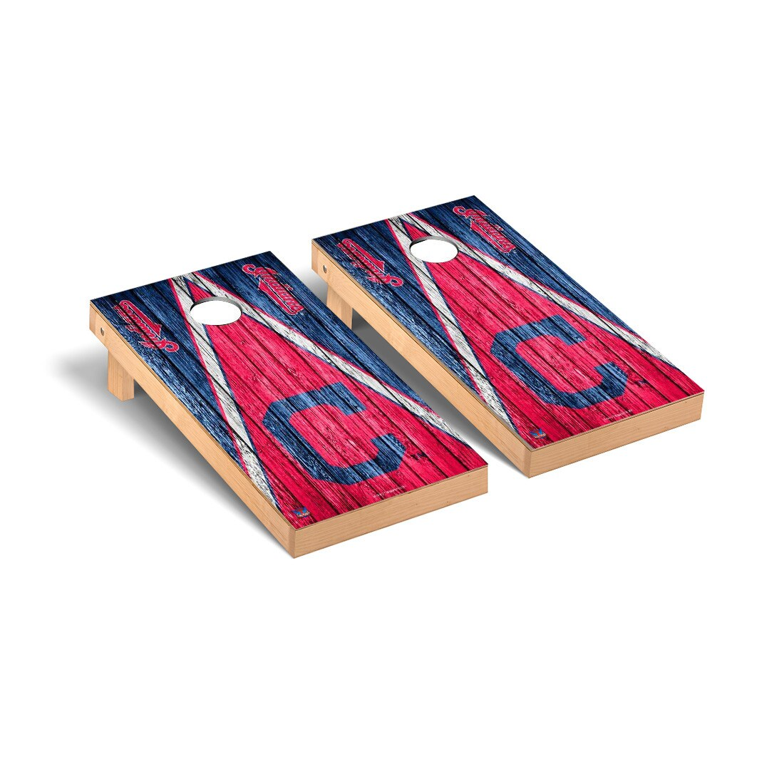 Cleveland Indians 2' x 4' Weathered Cornhole Board Tailgate Toss Set