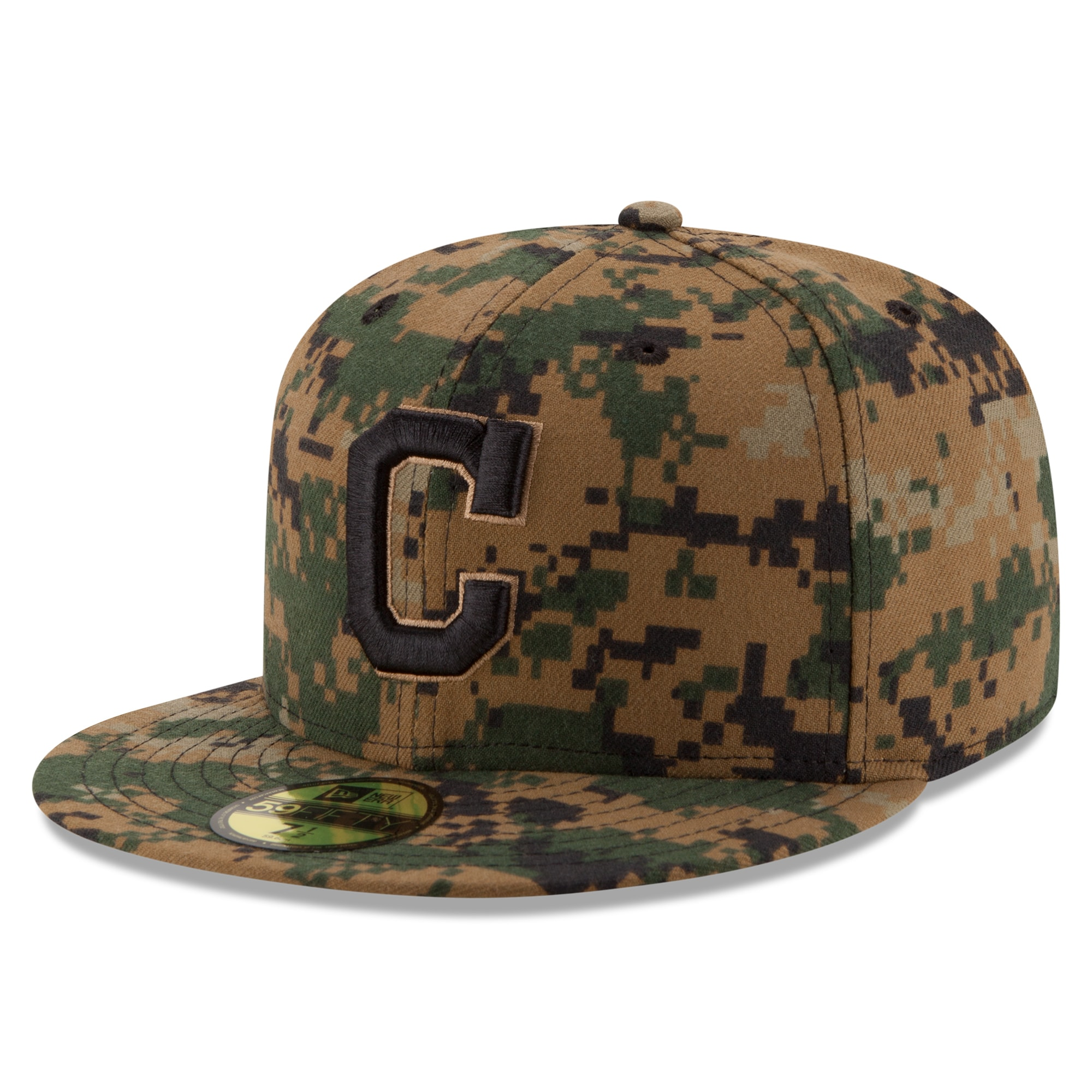 Cleveland Indians New Era 2016 Memorial Day 59FIFTY Fitted Hat - Digital Camo