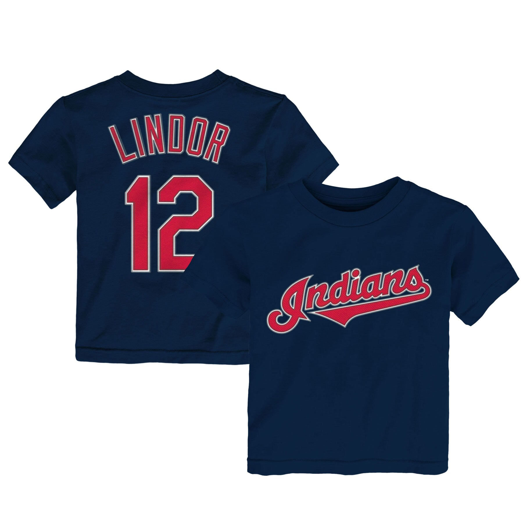 Francisco Lindor Cleveland Indians Majestic Infant Player Name and Number T-Shirt - Navy
