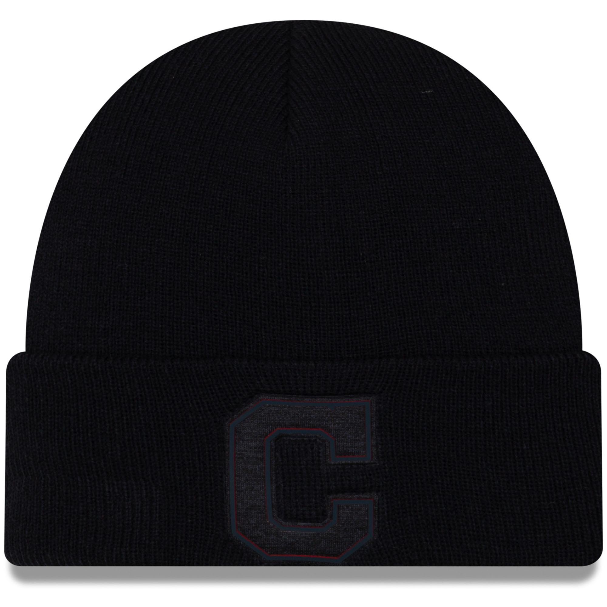 Cleveland Indians New Era Vivid Cuffed Knit Hat - Navy