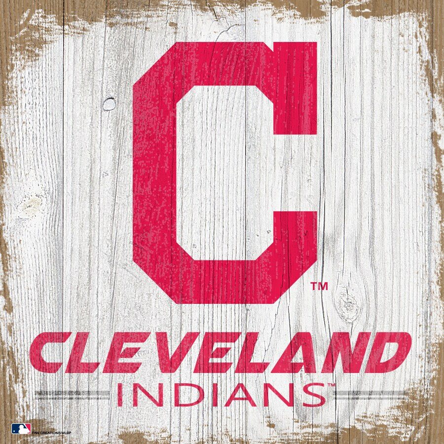 Cleveland Indians 6'' x 6'' Team Logo Block