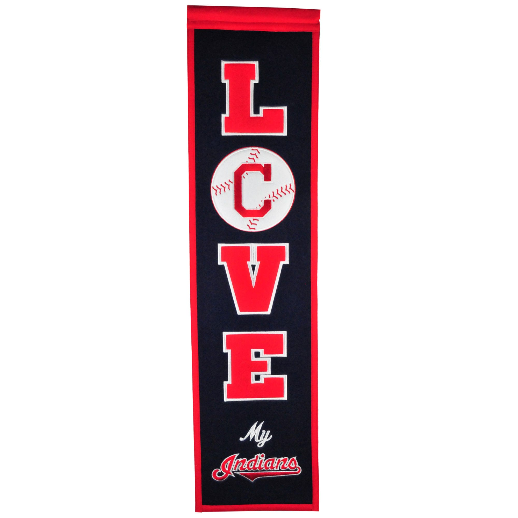 Cleveland Indians 8'' x 32'' Love Banner