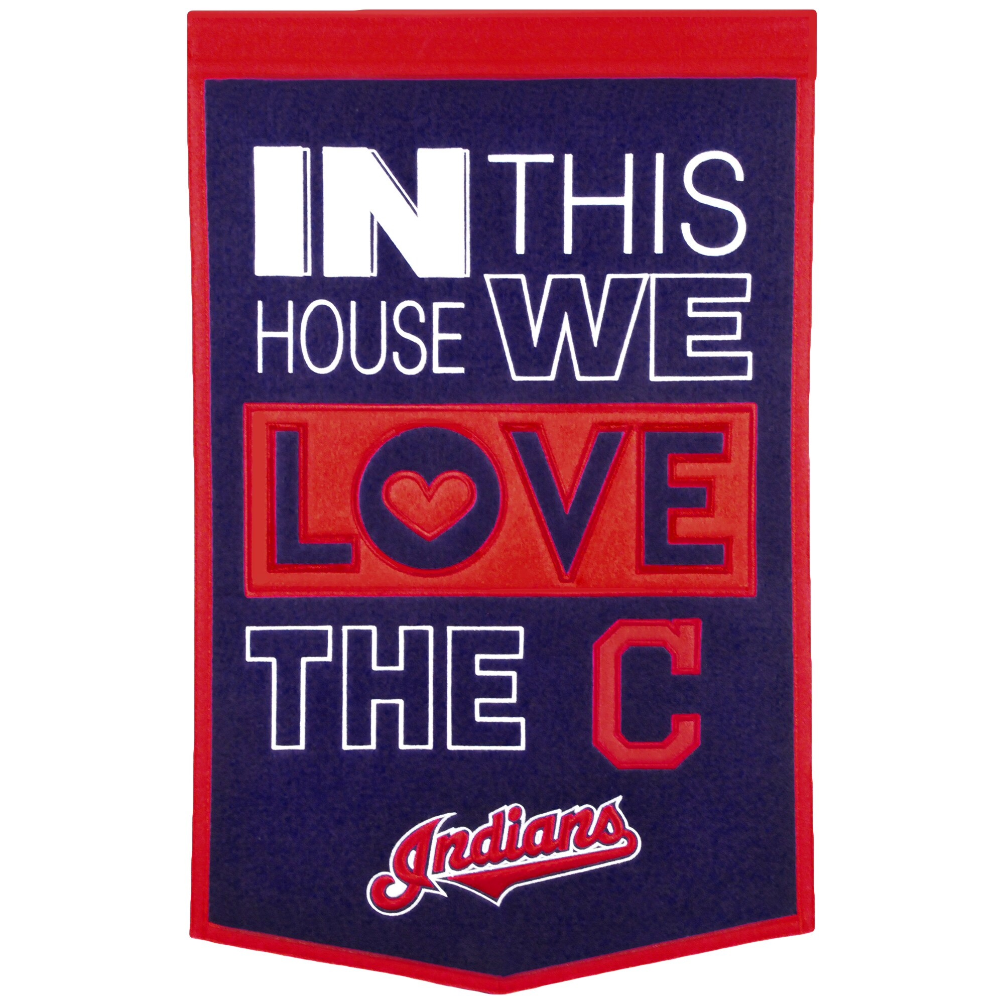 Cleveland Indians 15'' x 24'' Home Banner - Navy/Red