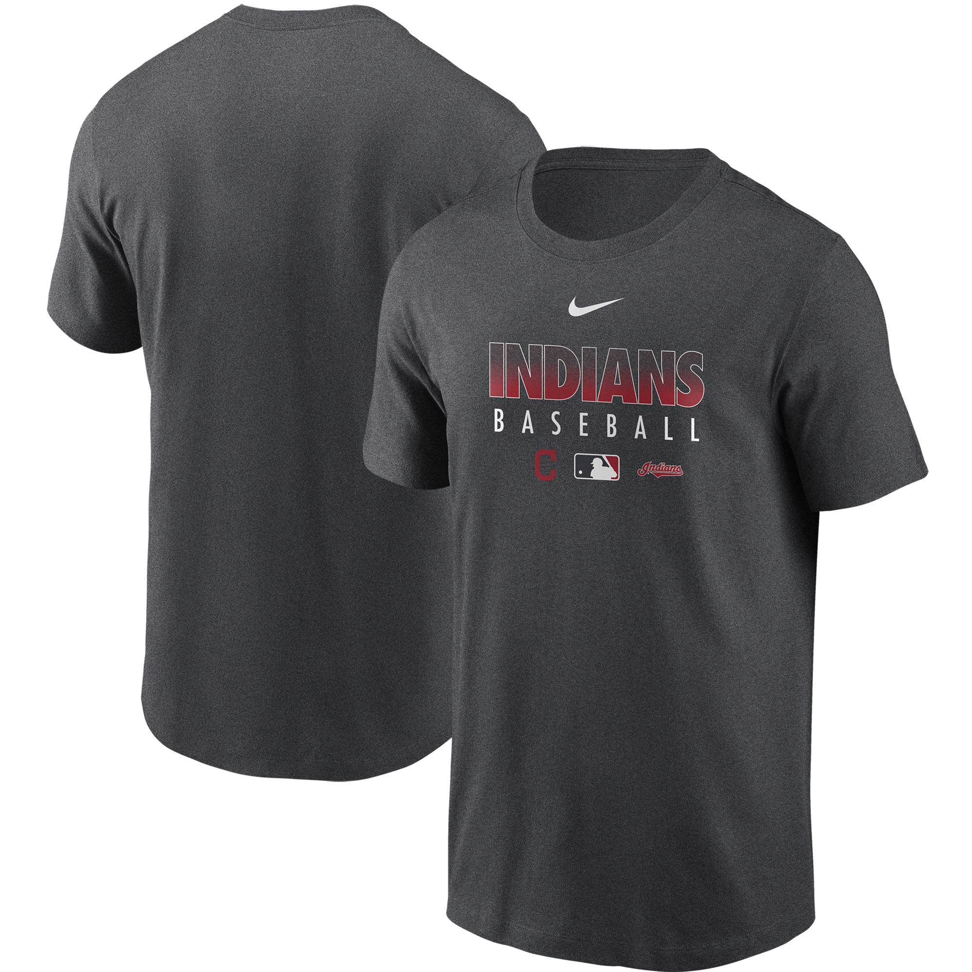 Cleveland Indians Nike Authentic Collection Team Performance T-Shirt - Gray