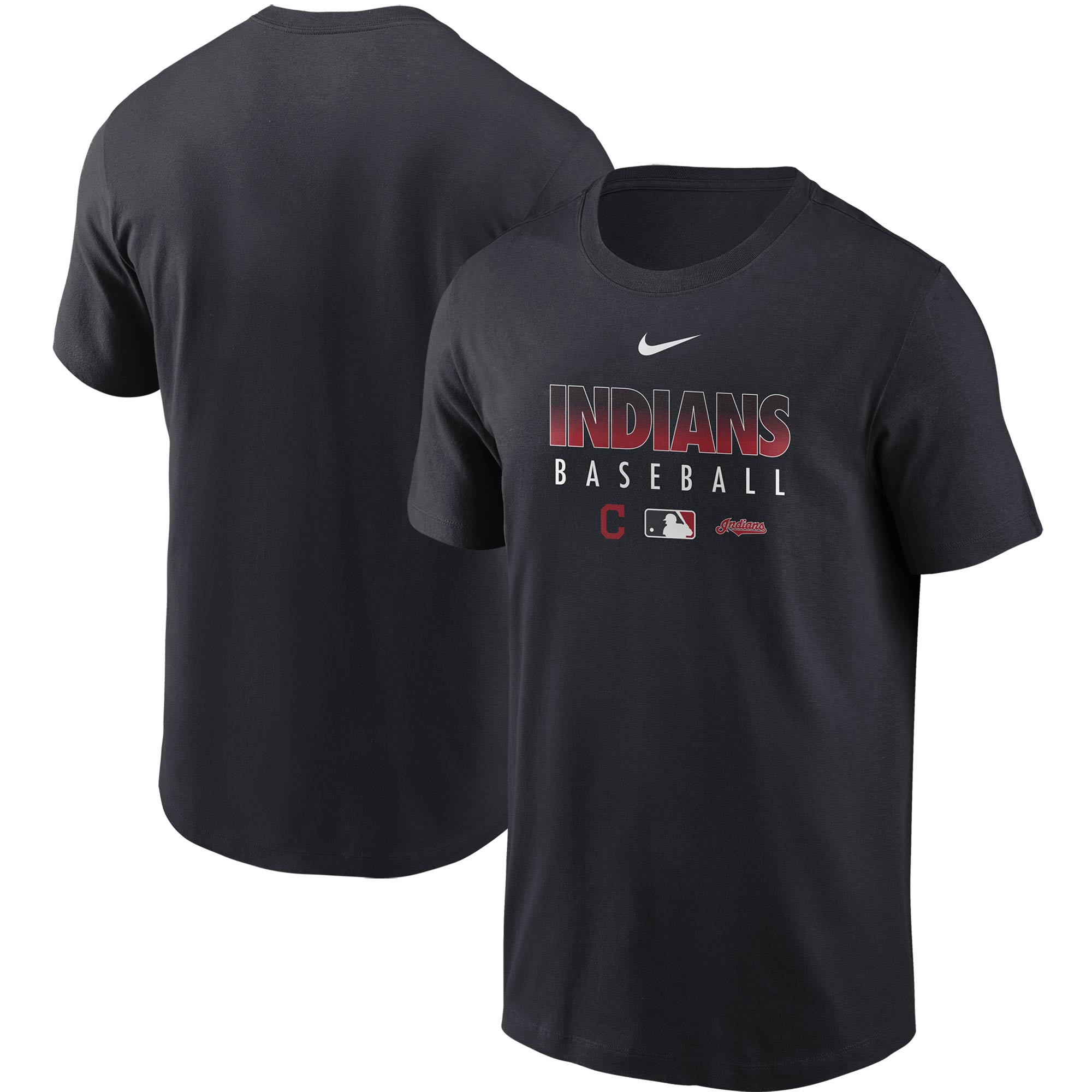 Cleveland Indians Nike Authentic Collection Team Performance T-Shirt - Navy