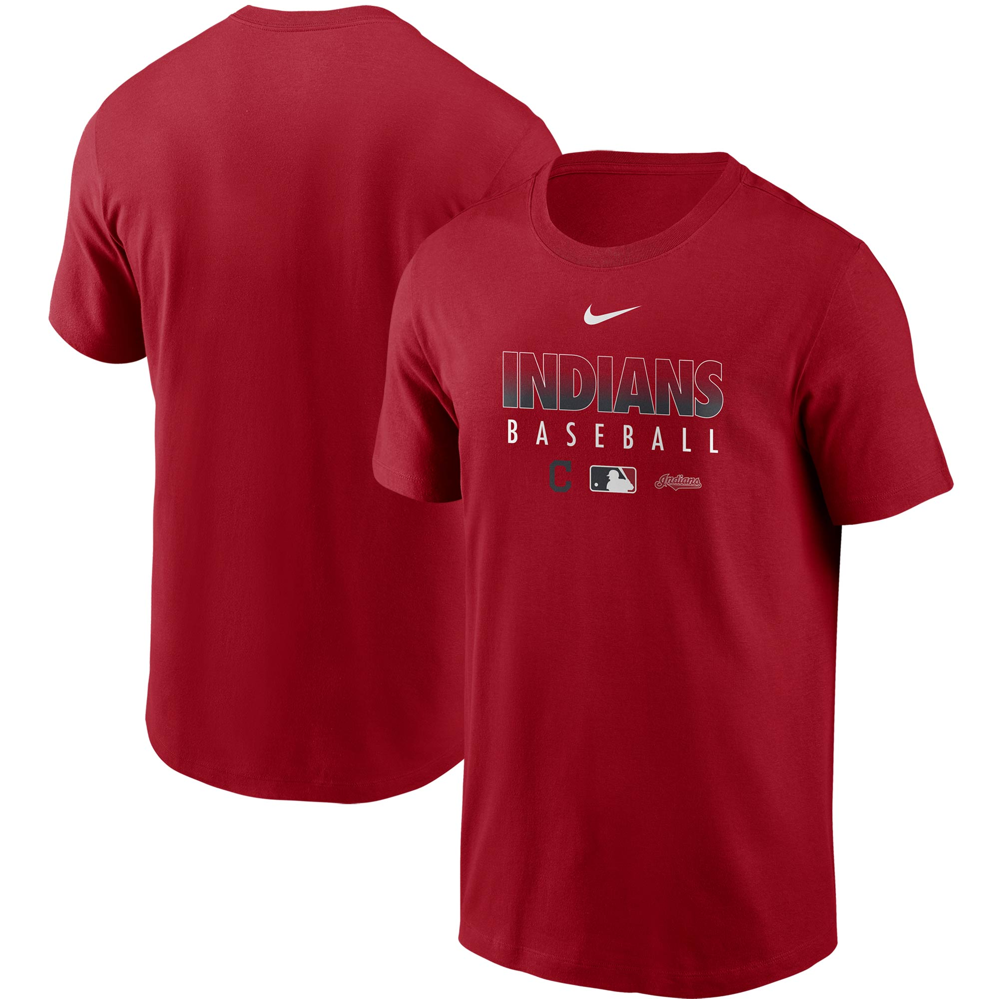 Cleveland Indians Nike Authentic Collection Team Performance T-Shirt - Red
