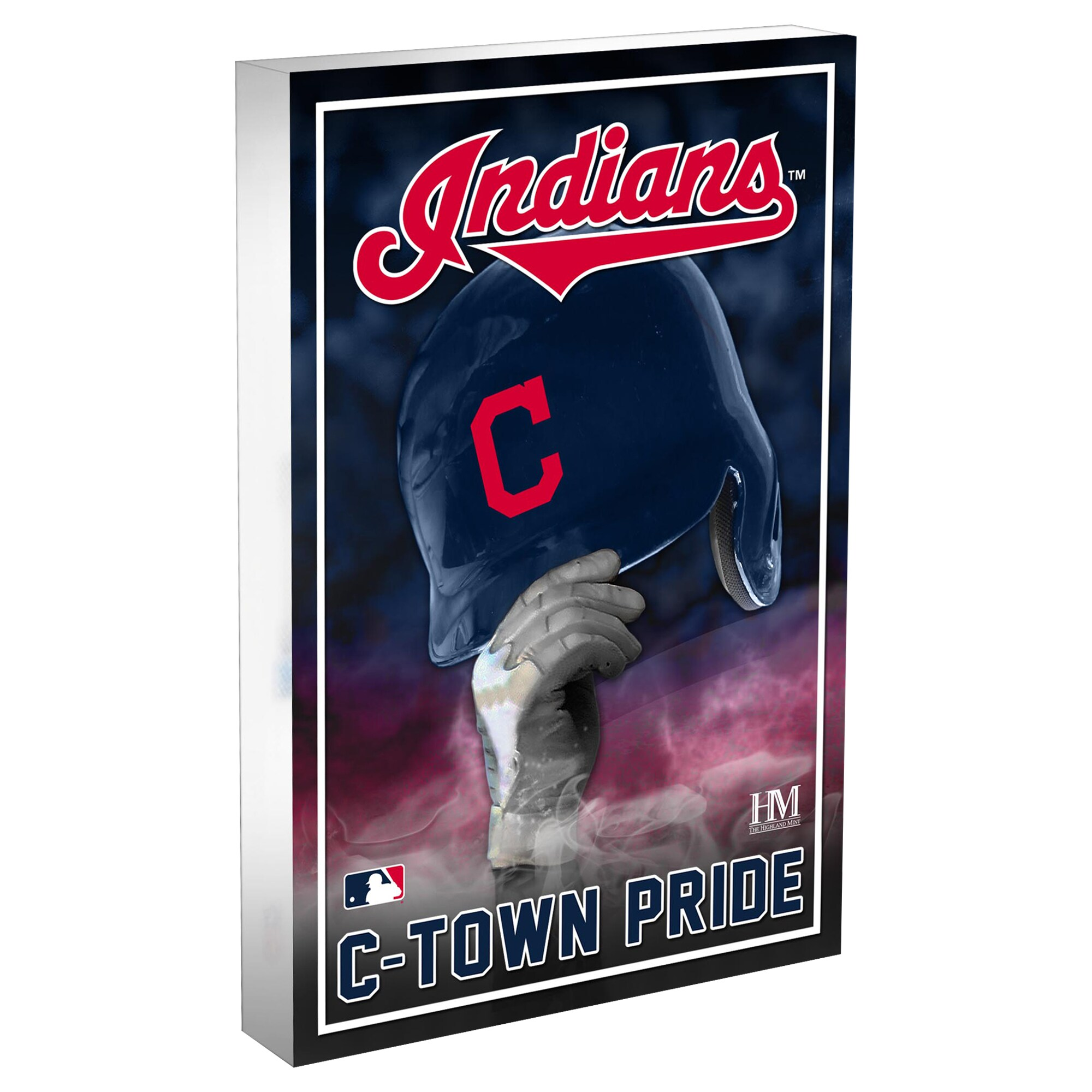 Cleveland Indians Highland Mint 4'' x 6'' Team Pride Acrylic 3D Block Photo