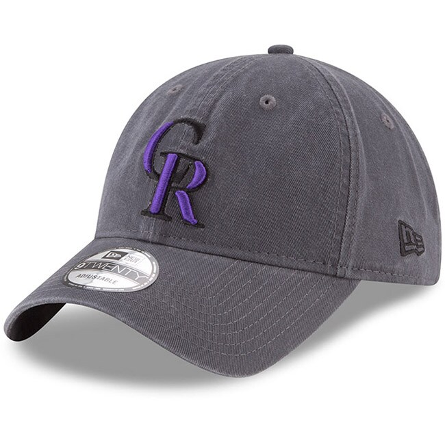 Colorado Rockies New Era Primary Logo Core Classic 9TWENTY Adjustable Hat - Graphite