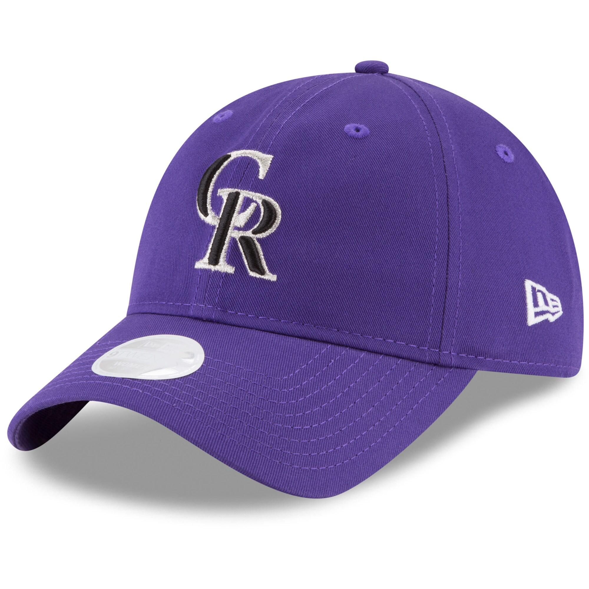 Colorado Rockies New Era Women's Core Classic 9TWENTY Adjustable Hat - Purple