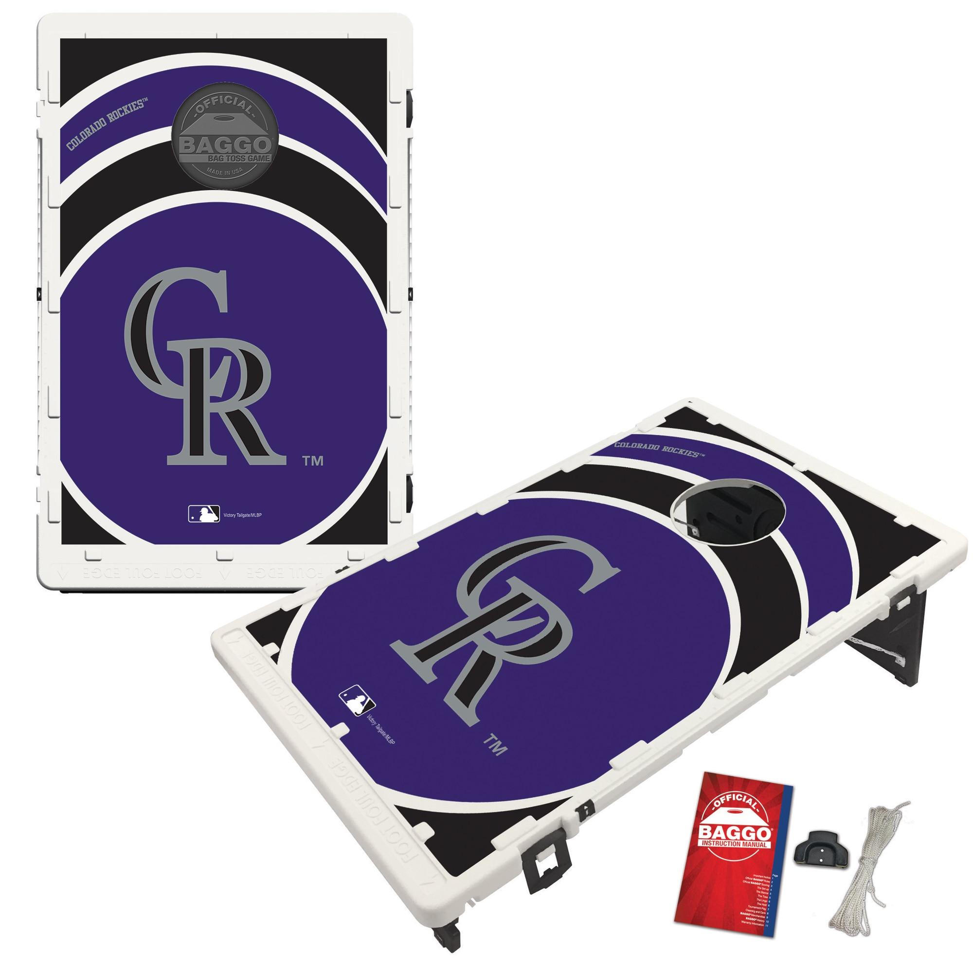 Colorado Rockies 2' x 3' BAGGO Vortex Cornhole Board Tailgate Toss Set