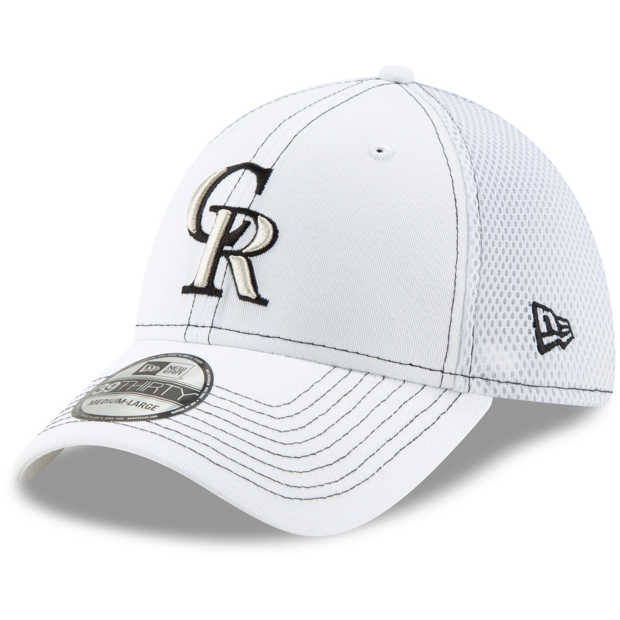 Colorado Rockies New Era Team Neo 39THIRTY Flex Hat - White