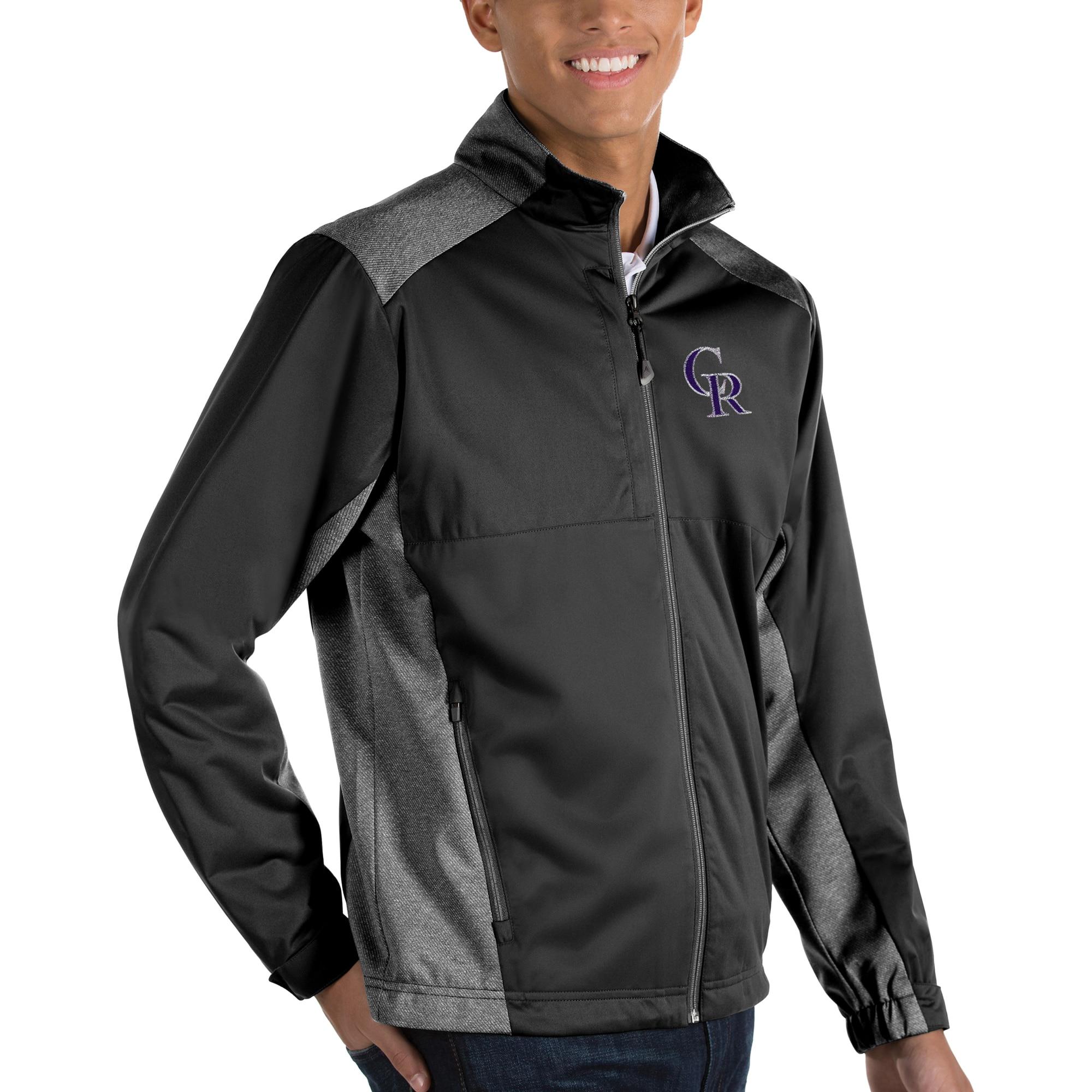 Colorado Rockies Antigua Revolve Full-Zip Jacket - Black