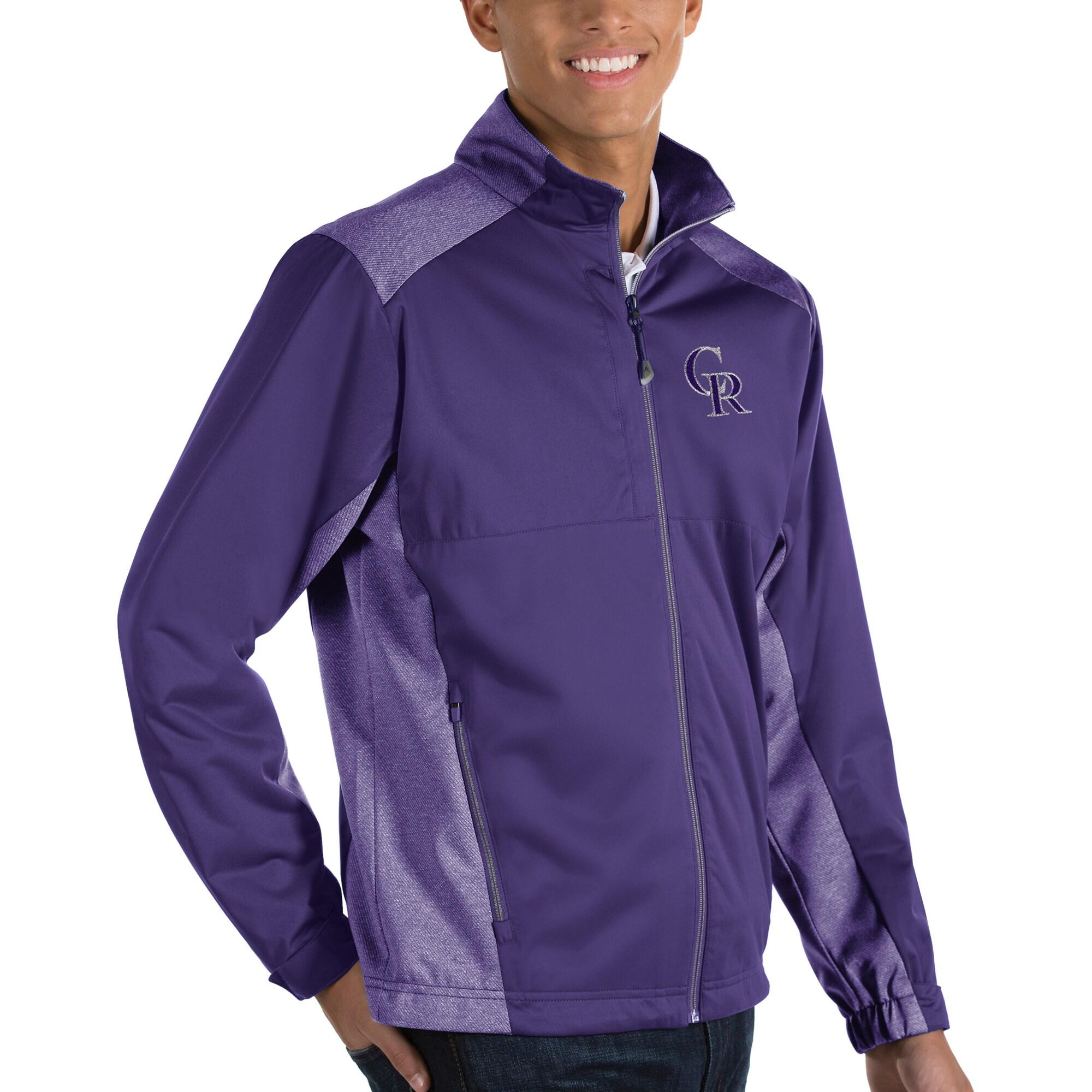 Colorado Rockies Antigua Revolve Full-Zip Jacket - Purple