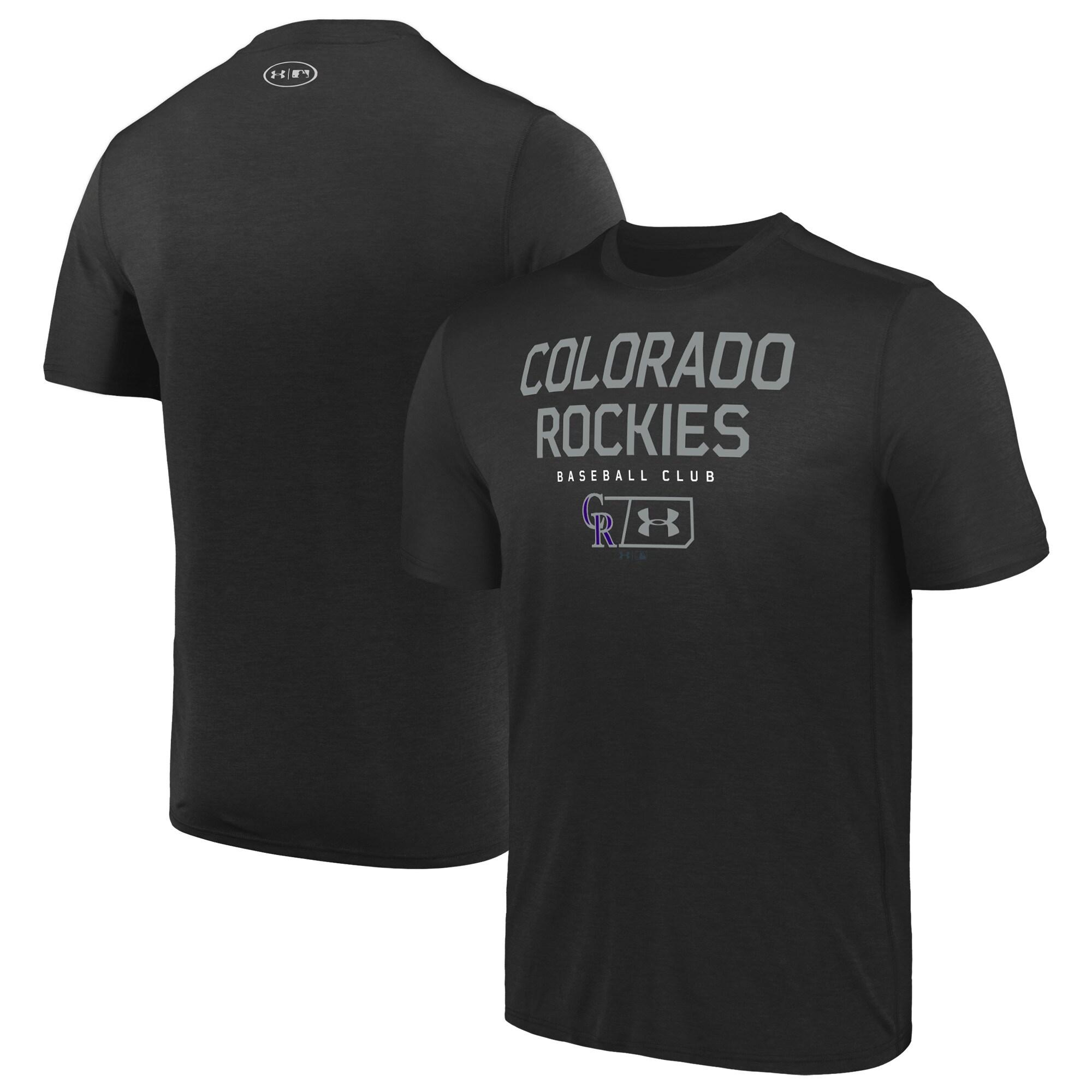 Colorado Rockies Under Armour City Proud Performance T-Shirt - Black