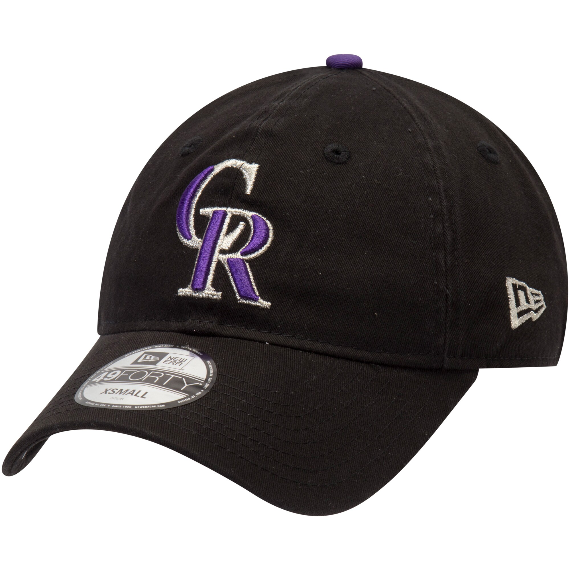 Colorado Rockies New Era Core Fit Replica 49FORTY Fitted Hat - Black