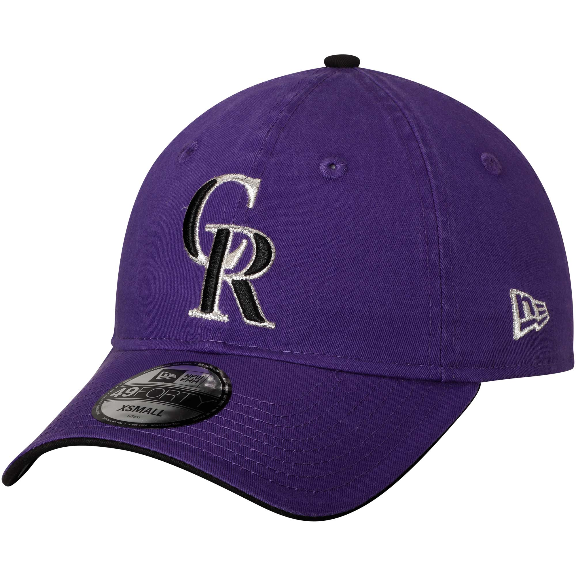 Colorado Rockies New Era Core Fit Replica 49FORTY Fitted Hat - Purple