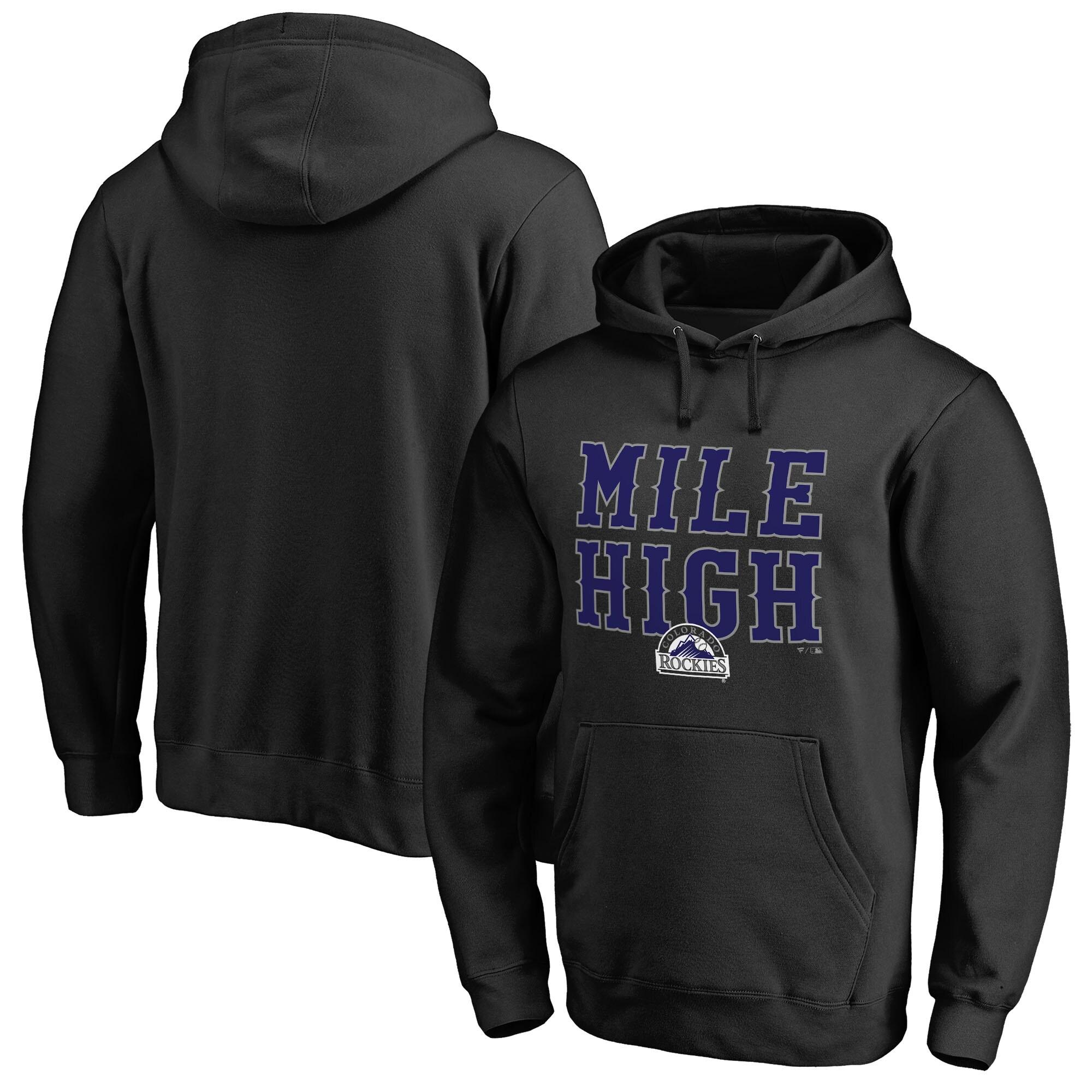 Colorado Rockies Fanatics Branded Hometown Collection Mile High Pullover Hoodie - Black