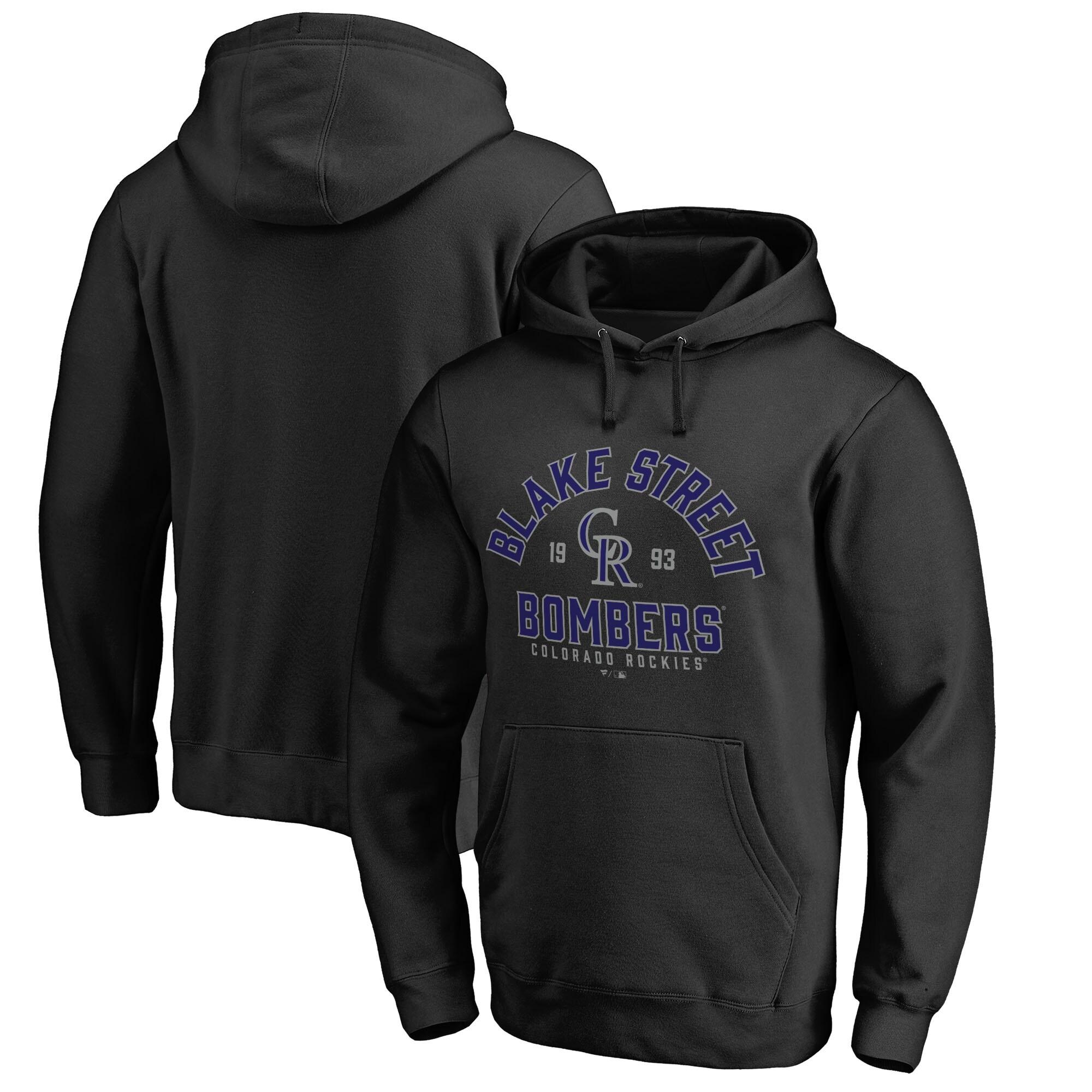 Colorado Rockies Fanatics Branded Hometown Collection Blake Street Pullover Hoodie - Black
