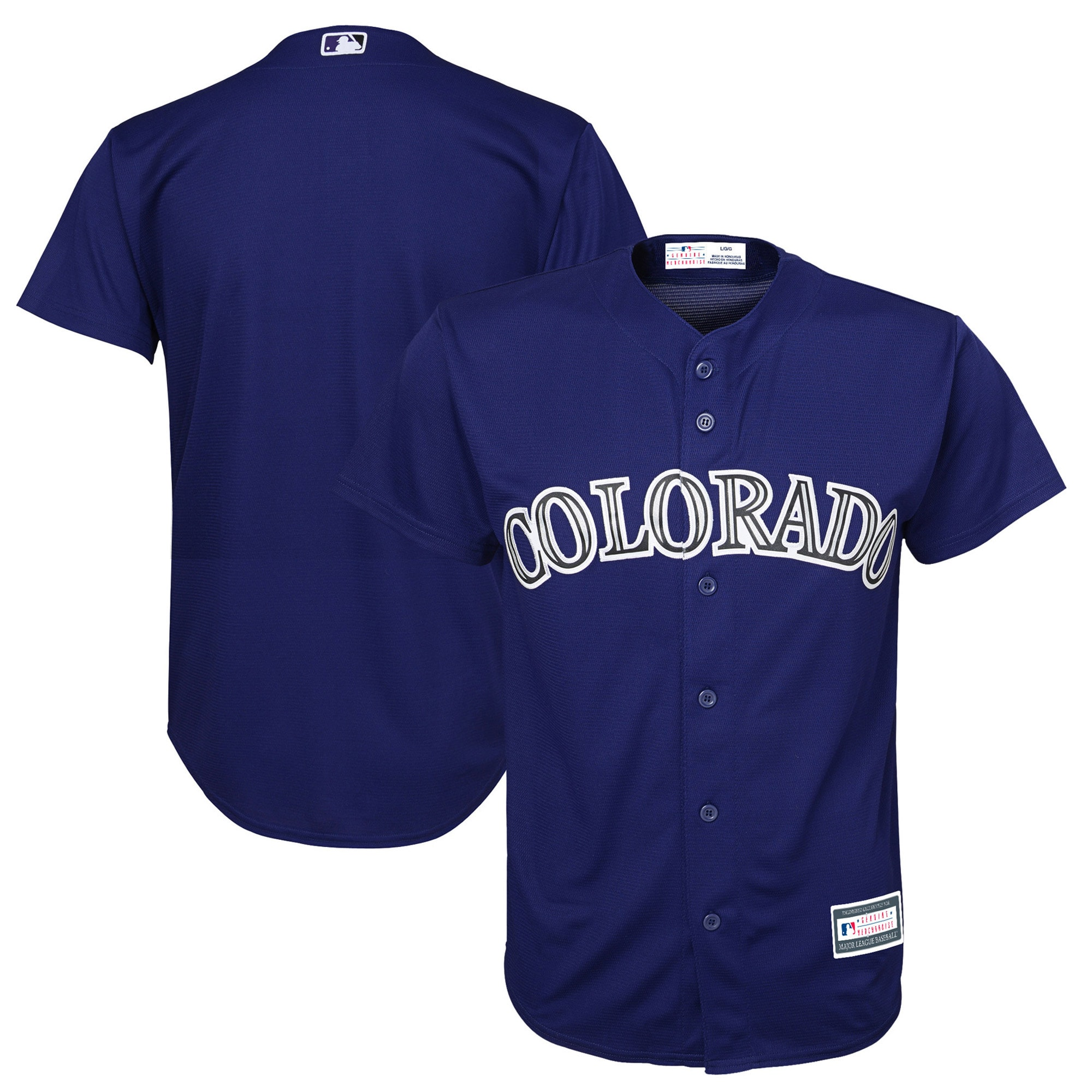 Colorado Rockies Youth Alternate Replica Blank Team Jersey - Purple
