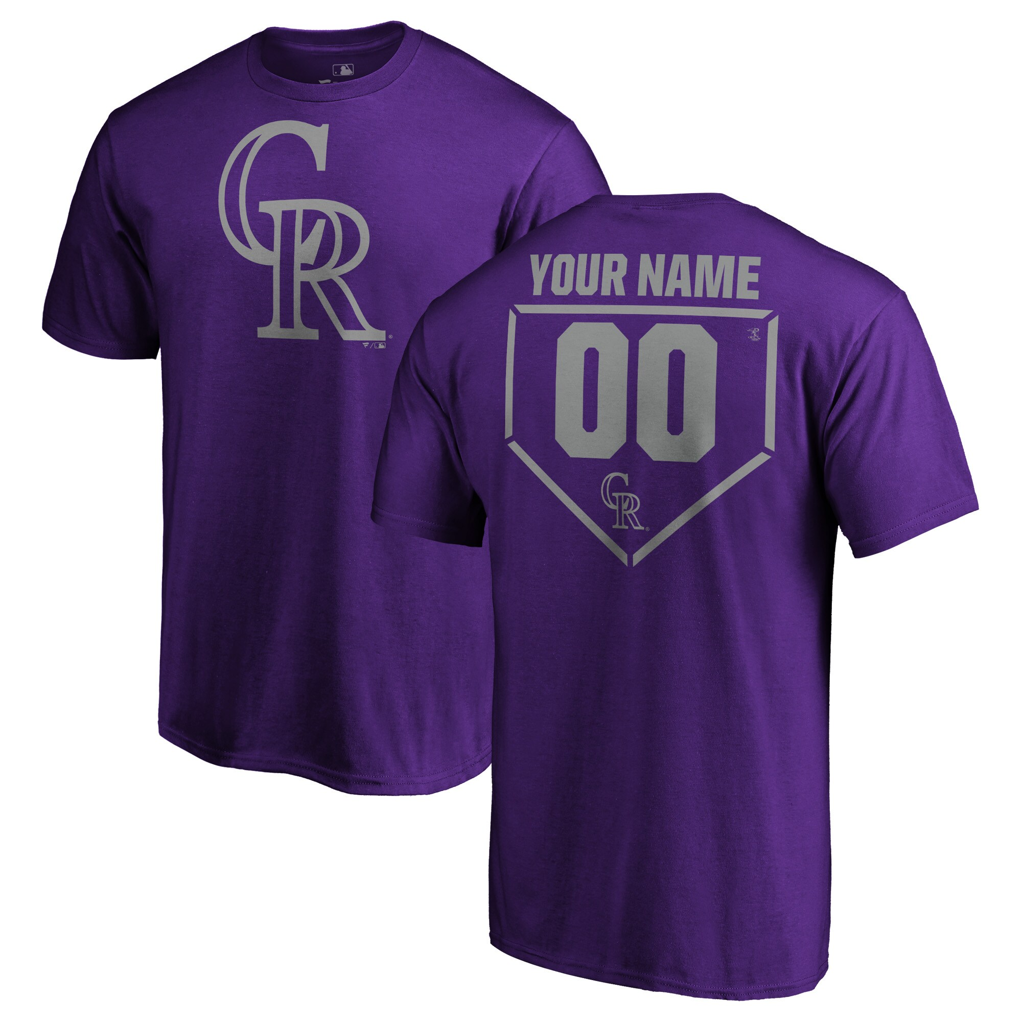 Colorado Rockies Fanatics Branded Personalized RBI T-Shirt - Purple