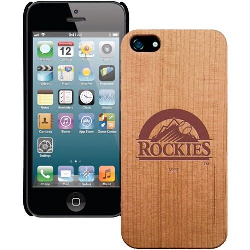 Colorado Rockies Wooden iPhone 5 Primary Case