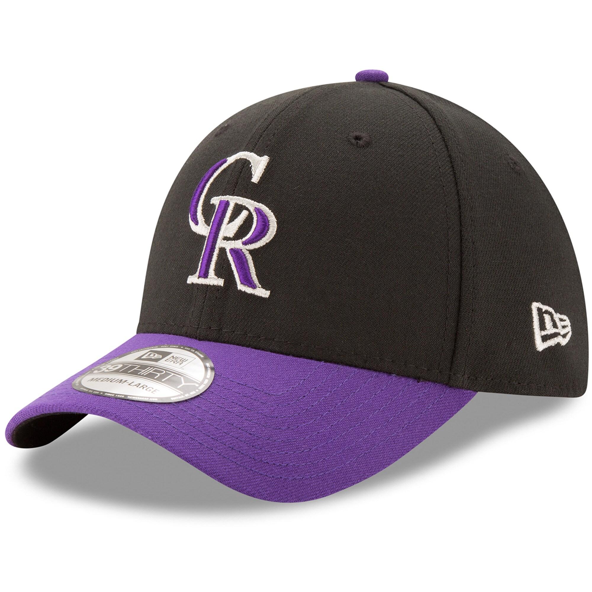Colorado Rockies New Era Alternate Team Classic 39THIRTY Flex Hat - Black/Purple