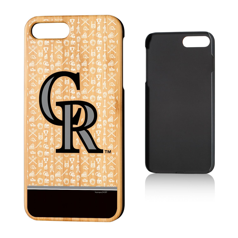 Colorado Rockies iPhone 7 Plus/8 Plus Alternate Stripe Bamboo Case