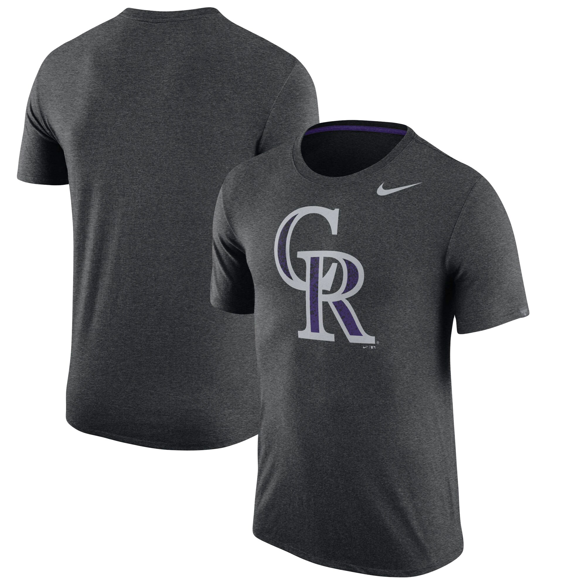Colorado Rockies Nike Tri-Blend T-Shirt - Heathered Black