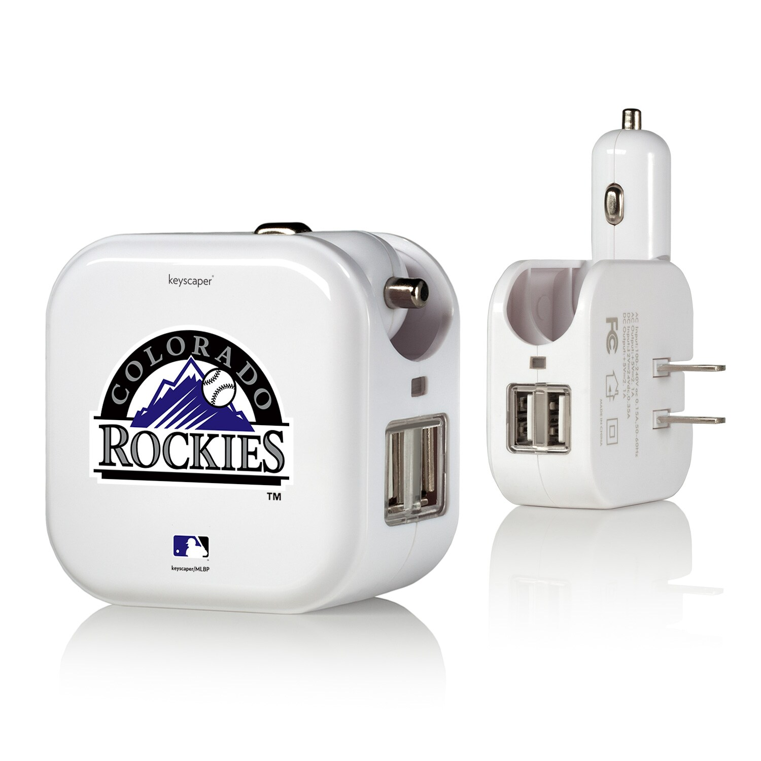 Colorado Rockies 2-In-1 USB Charger