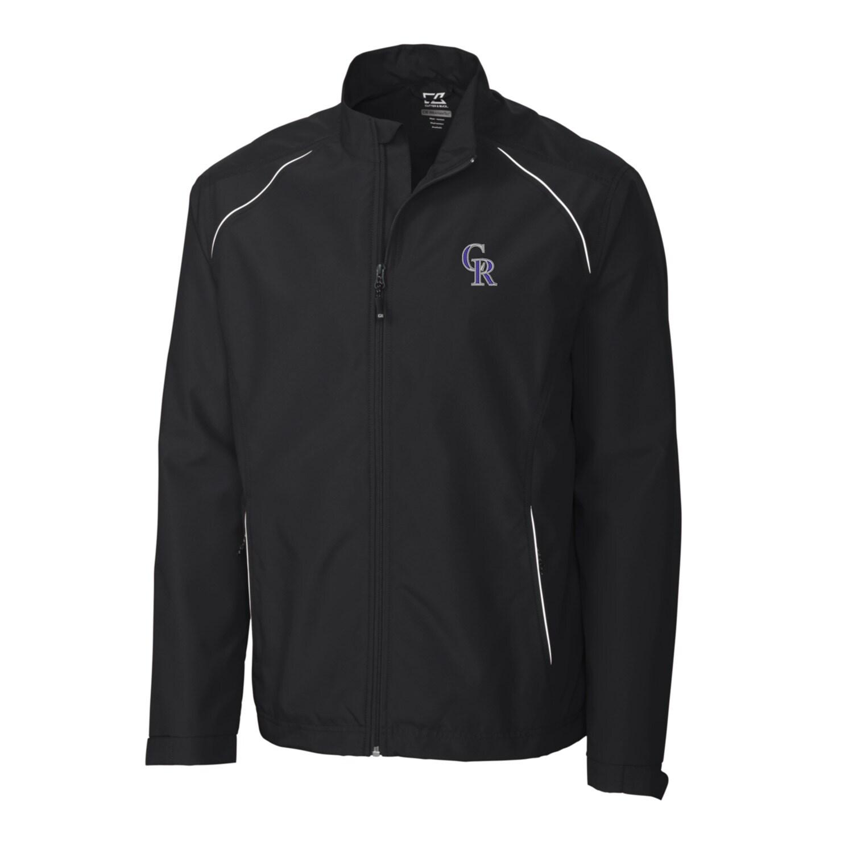 Colorado Rockies Cutter & Buck Big & Tall WeatherTec Beacon Full Zip Jacket - Black