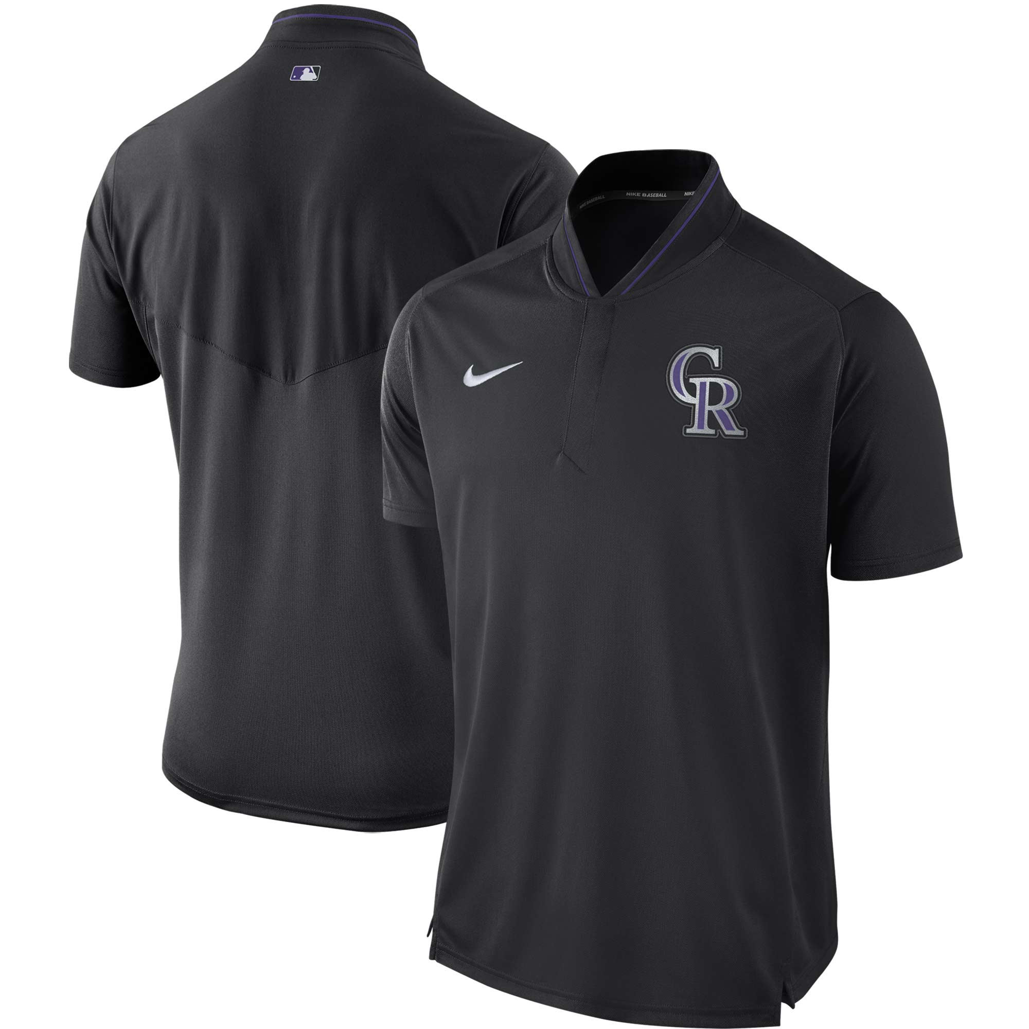 Colorado Rockies Nike Authentic Collection Elite Performance Polo - Black