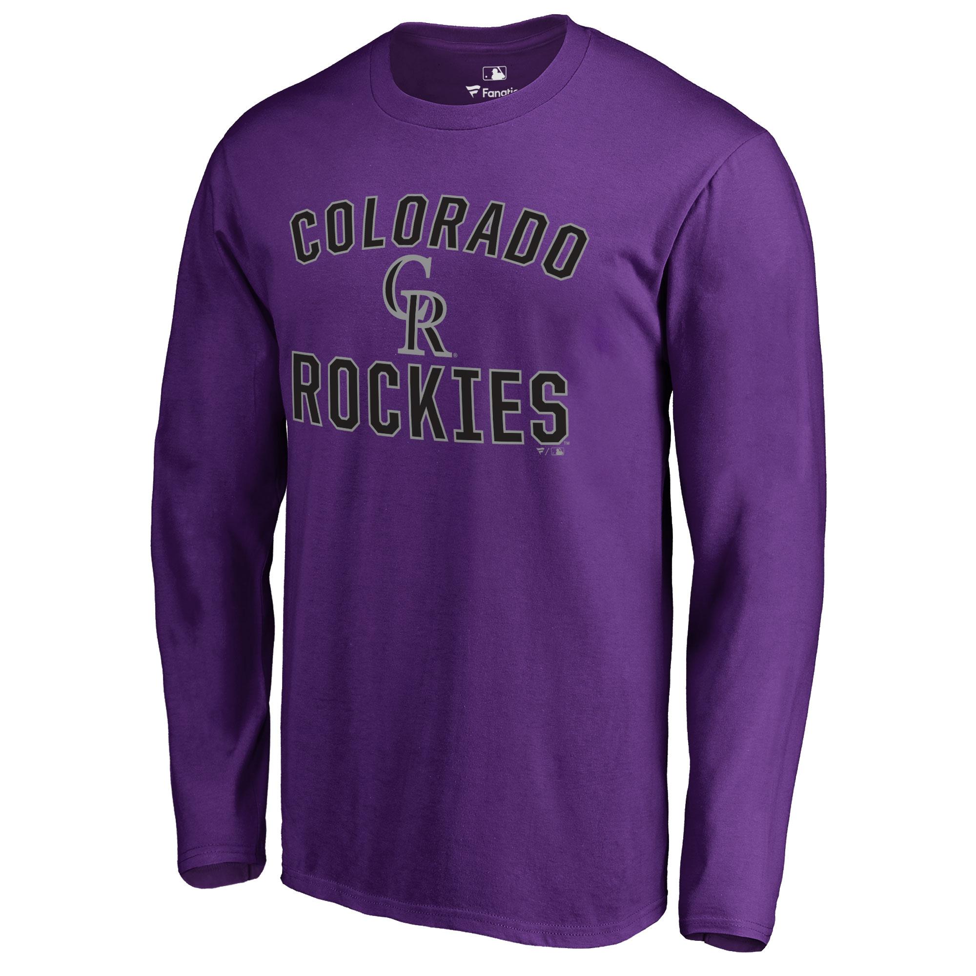 Colorado Rockies Victory Arch Long Sleeve T-Shirt - Purple
