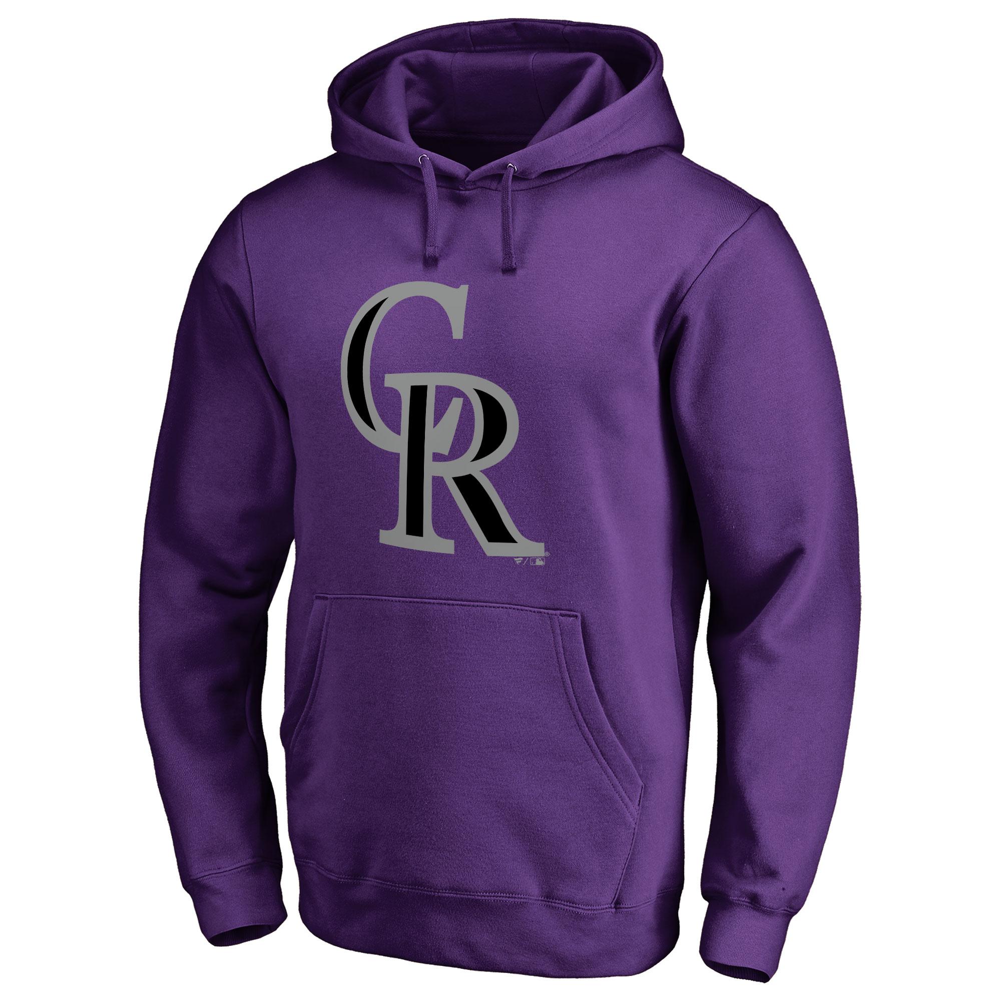 Colorado Rockies Secondary Color Primary Logo Pullover Hoodie - Purple