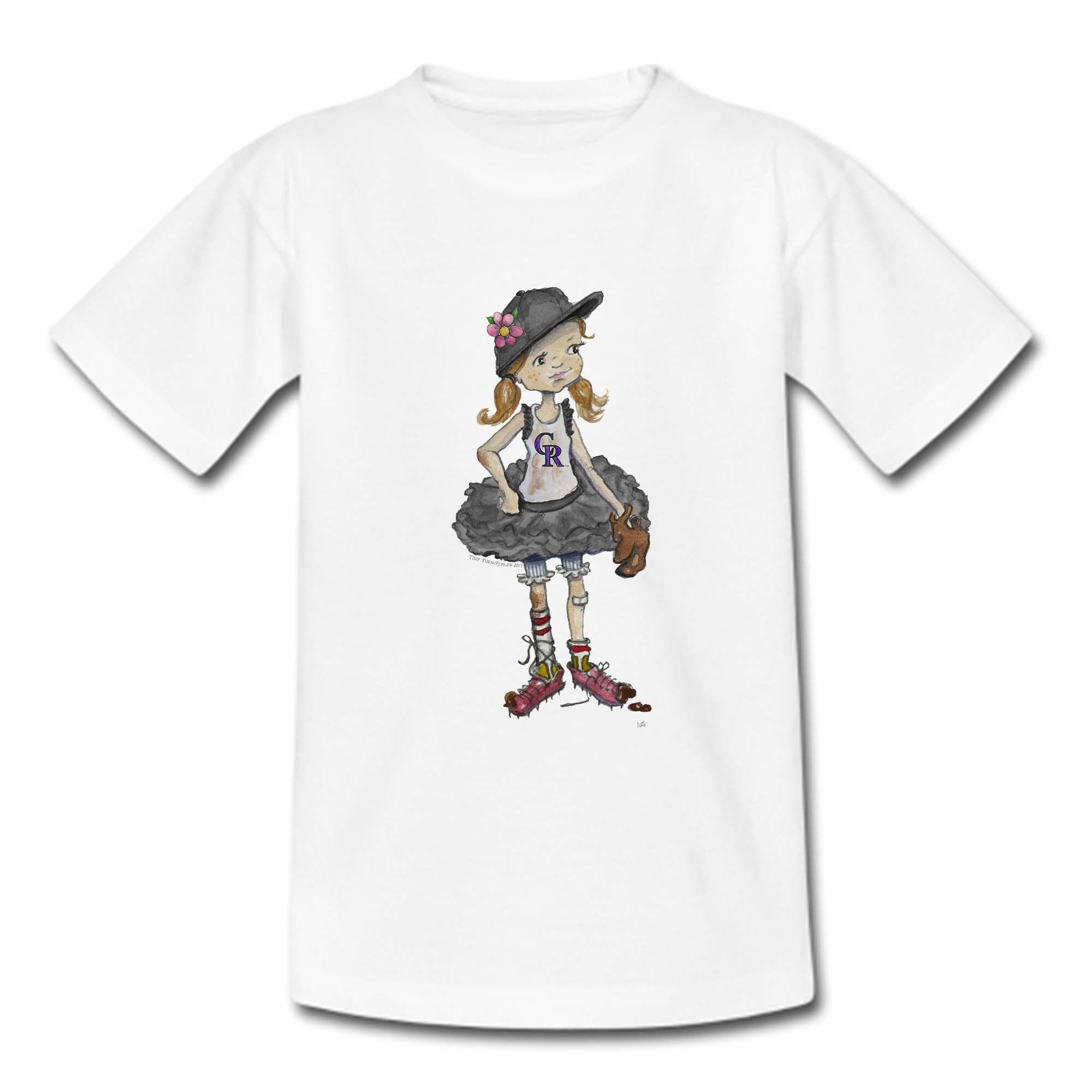 Colorado Rockies Tiny Turnip Girls Youth Babes T-Shirt - White