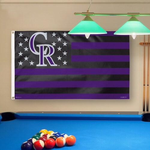 Colorado Rockies WinCraft Deluxe Stars & Stripes 3' x 5' Flag