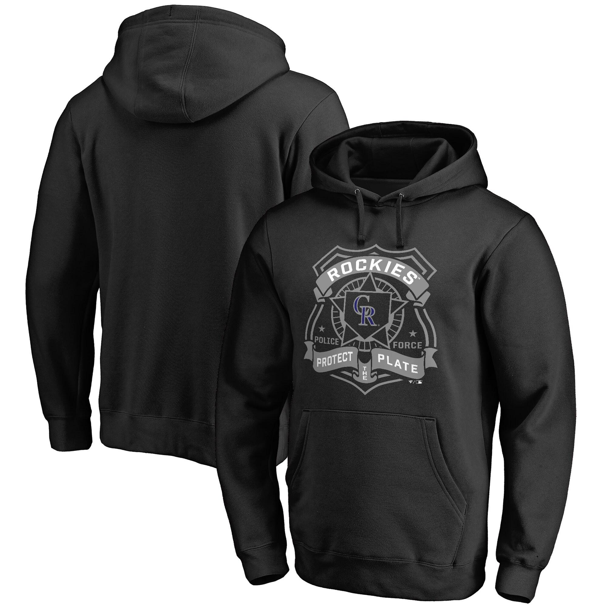 Colorado Rockies Police Badge Pullover Hoodie - Black