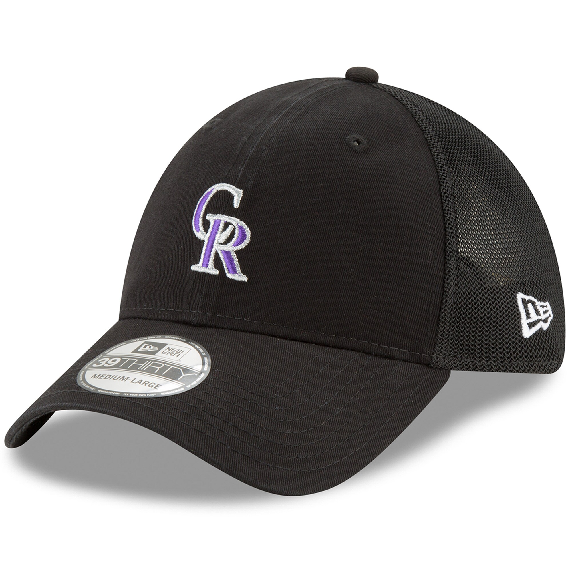 Colorado Rockies New Era Team Precision 39THIRTY Flex Hat - Black