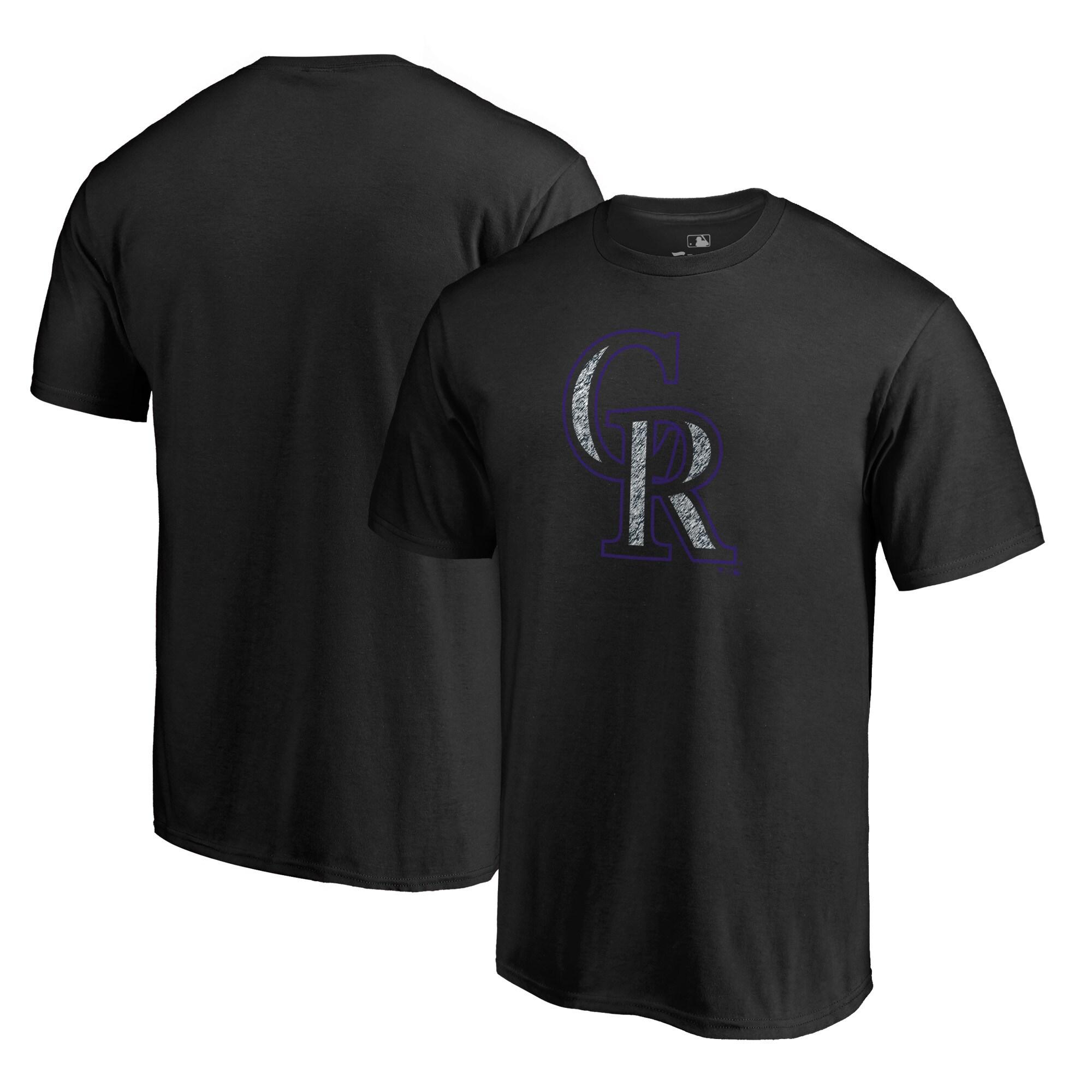 Colorado Rockies Fanatics Branded Static Logo T-Shirt - Black