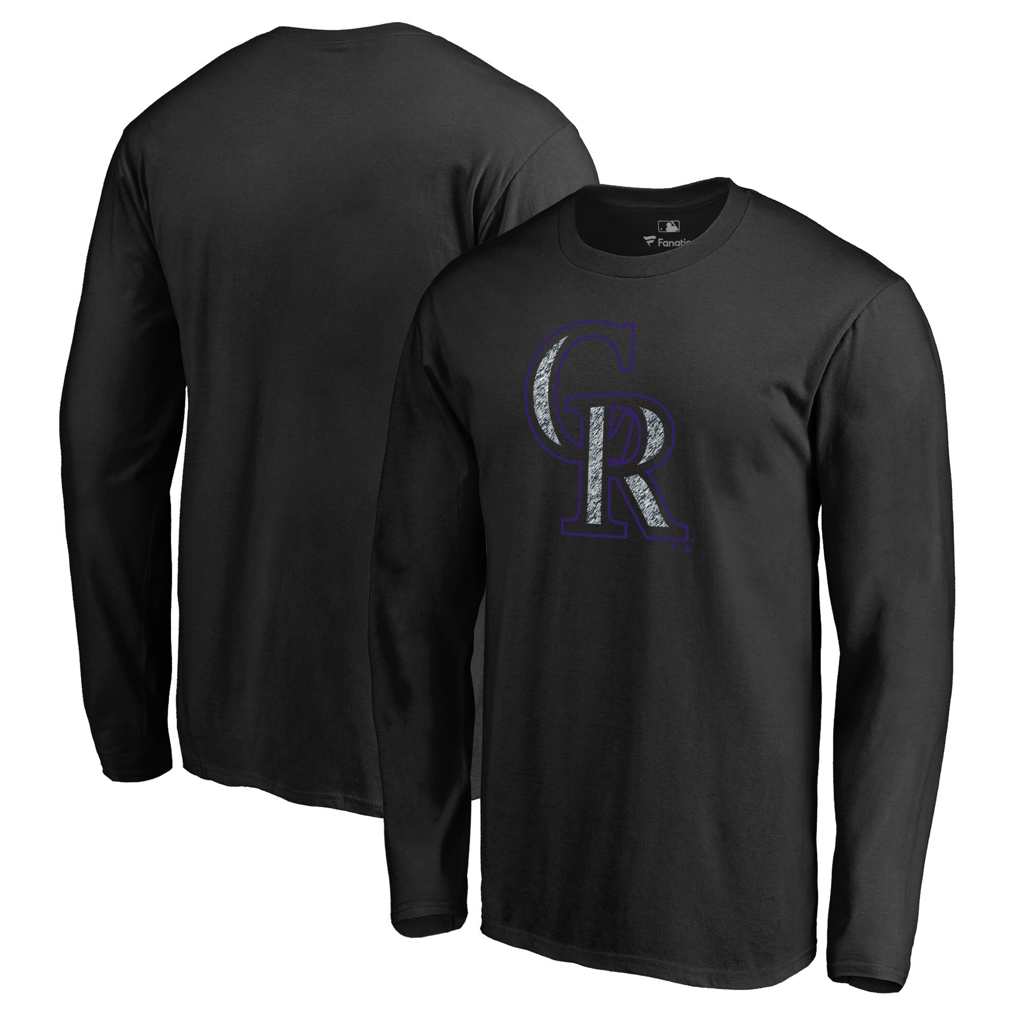 Colorado Rockies Fanatics Branded Static Logo Long Sleeve T-Shirt - Black