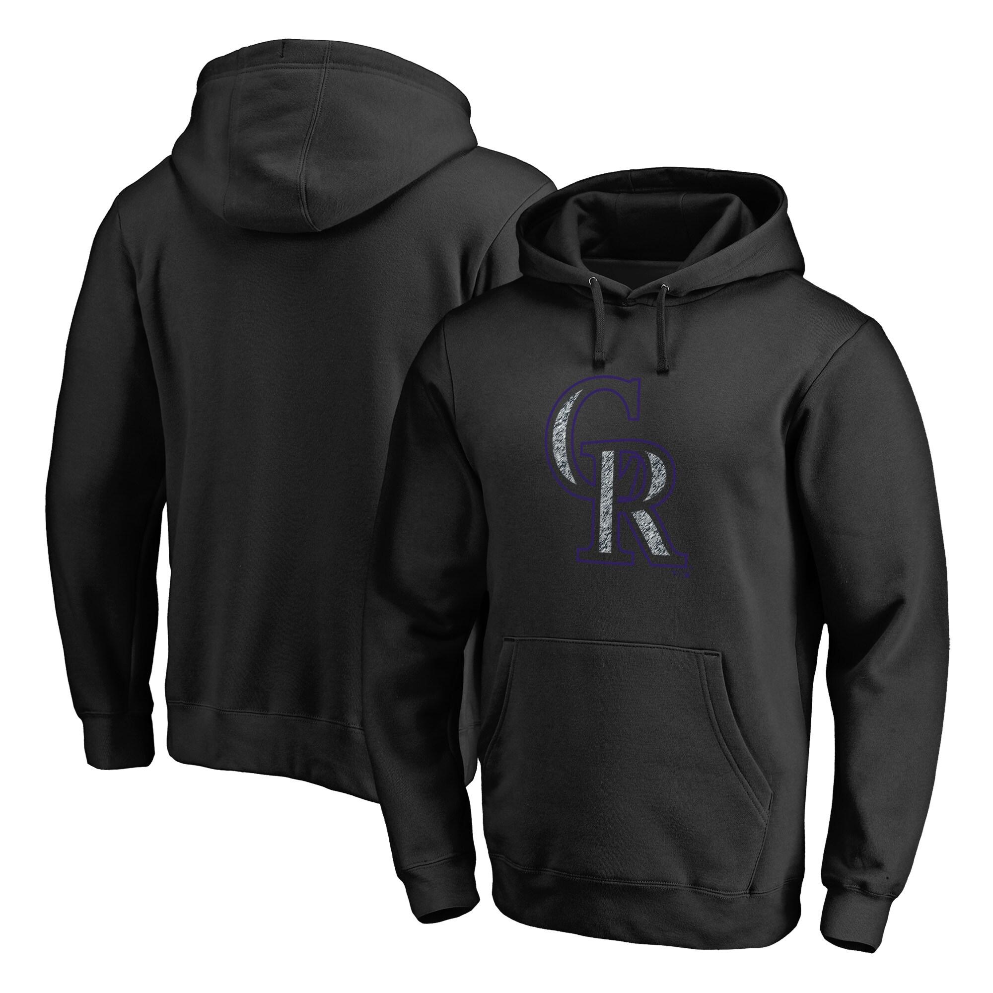 Colorado Rockies Fanatics Branded Static Logo Pullover Hoodie - Black