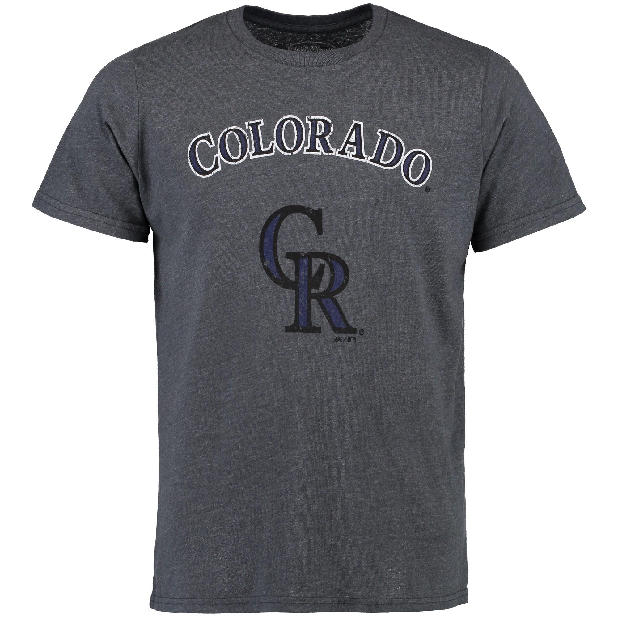 Colorado Rockies Majestic Threads Premium Granite Tri-Blend T-Shirt - Charcoal